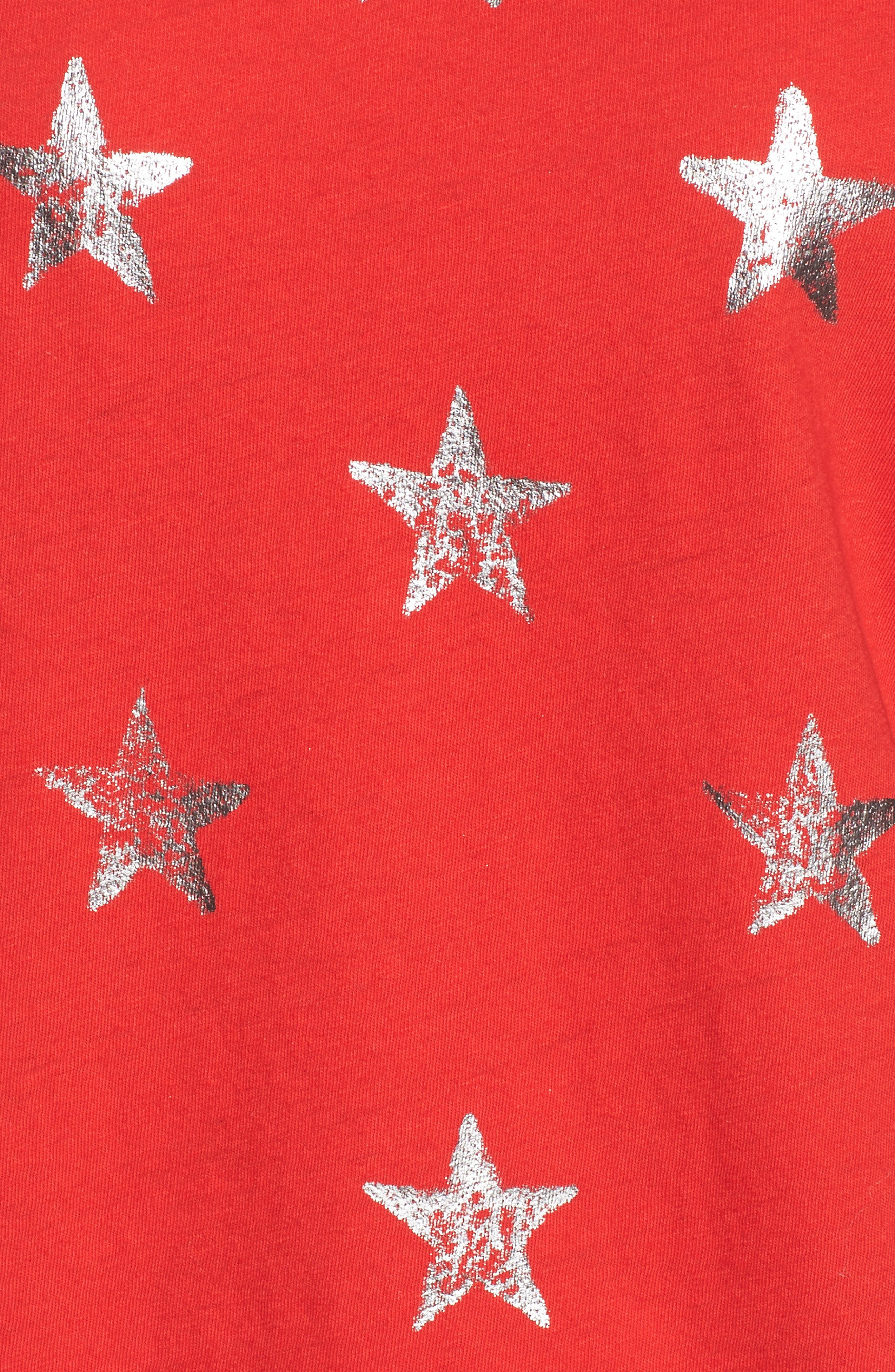 The Muscle Tee,                             Alternate thumbnail 5, color,                             Red Foil Star