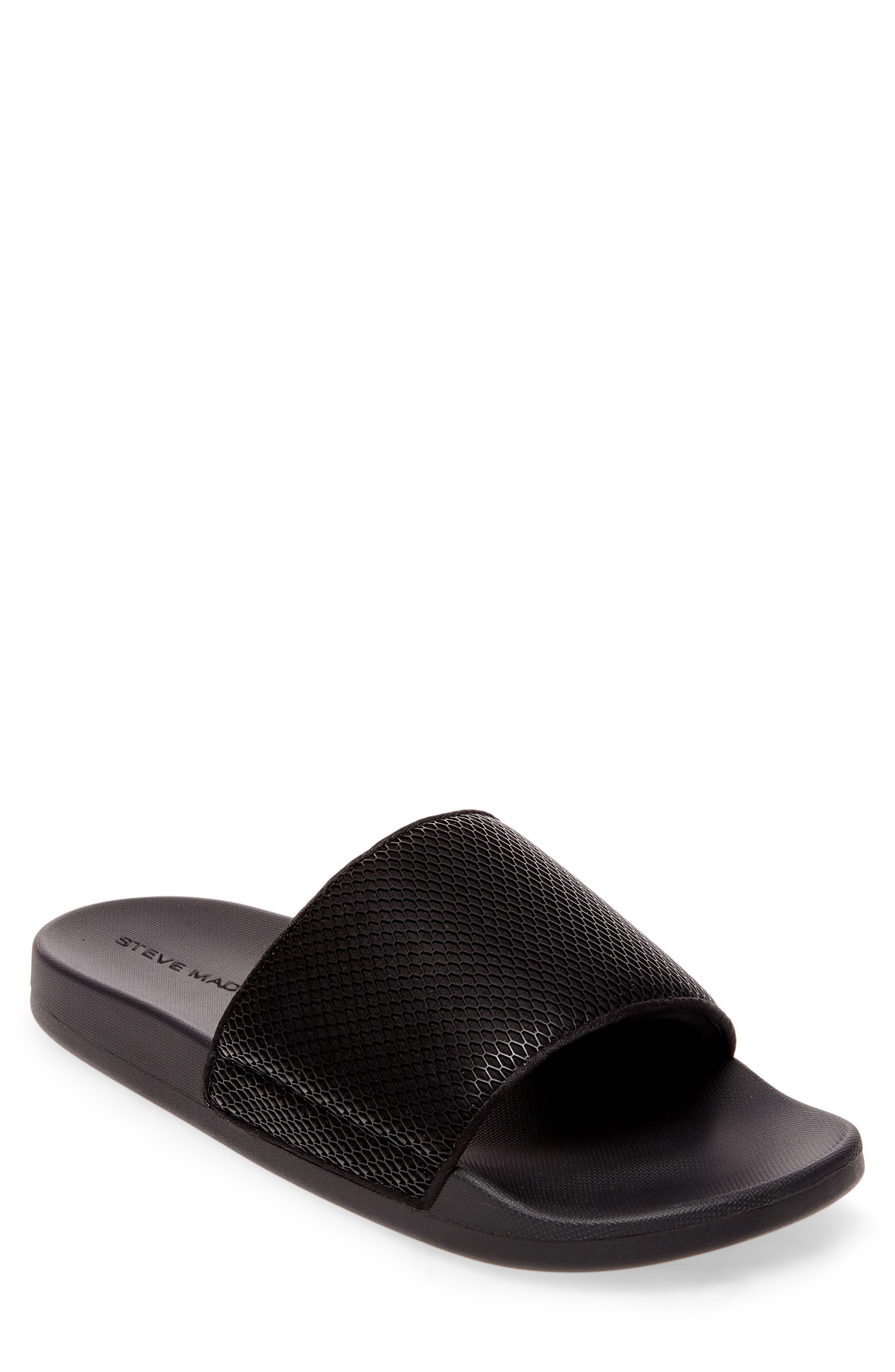 Ransom Slide Sandal,                             Main thumbnail 1, color,                             Black