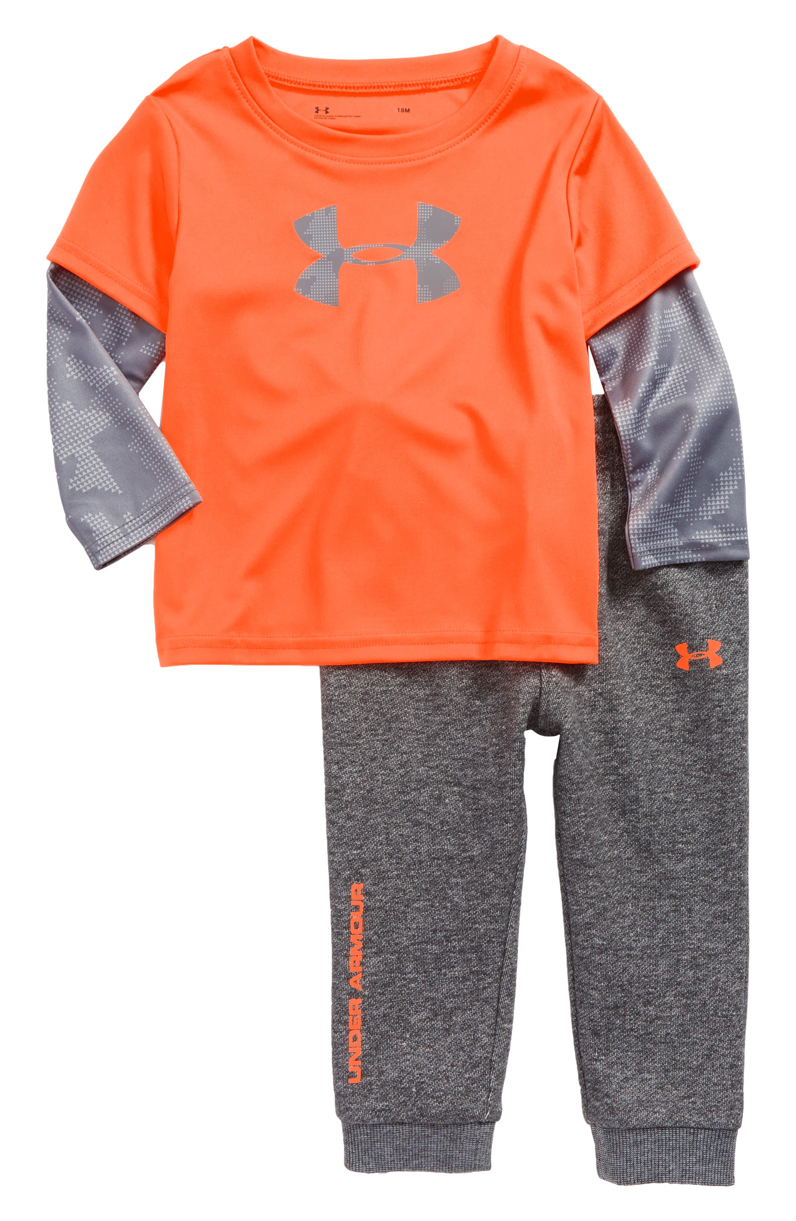 Under Armour Big Logo Bodysuit & Pants Set (Baby Boys)