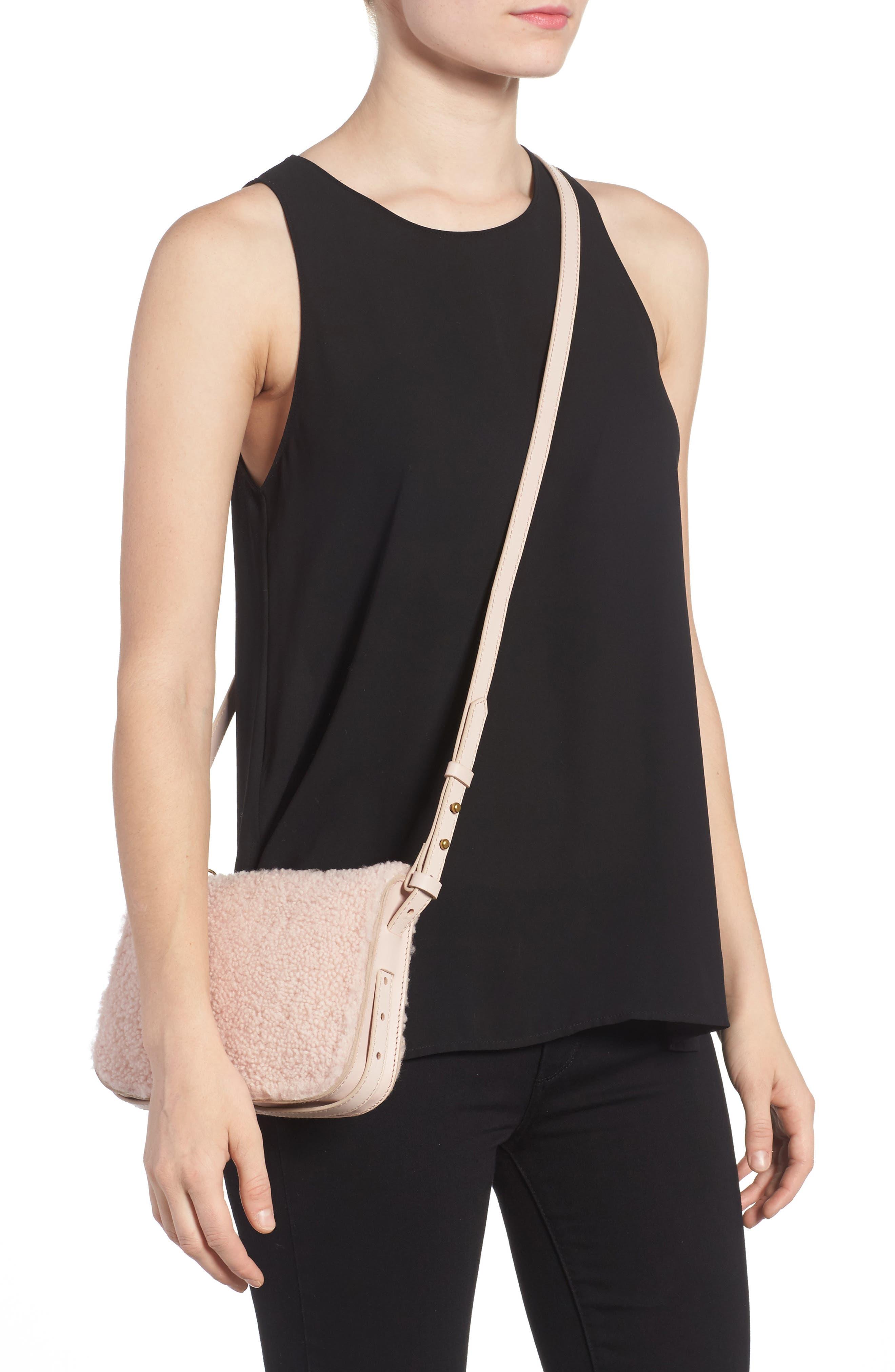 Alternate Image 2  - Madewell Simple Genuine Shearling Crossbody Bag