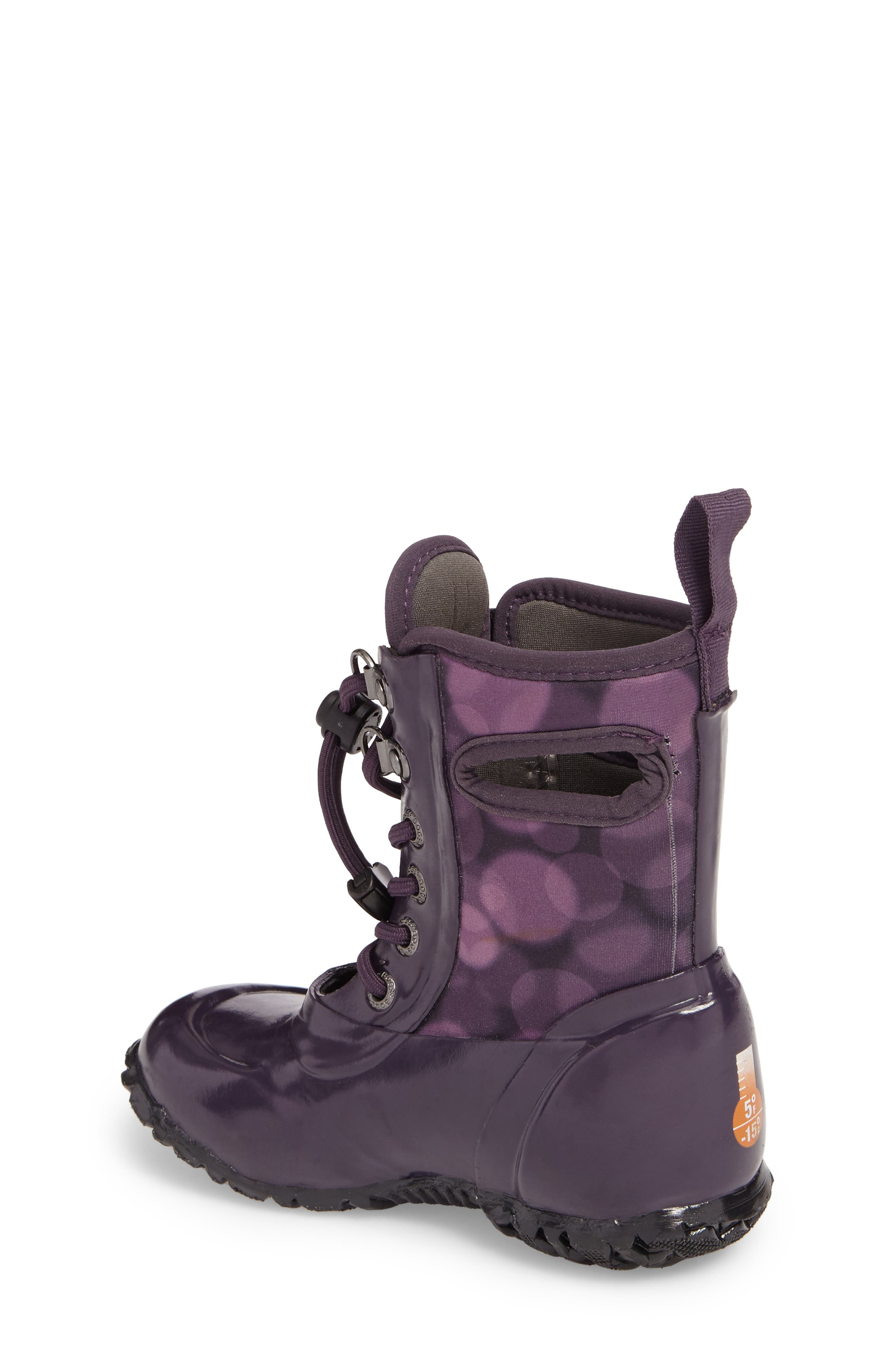 Sidney Waterproof Lace-Up Boot,                             Alternate thumbnail 2, color,                             Eggplant Multi