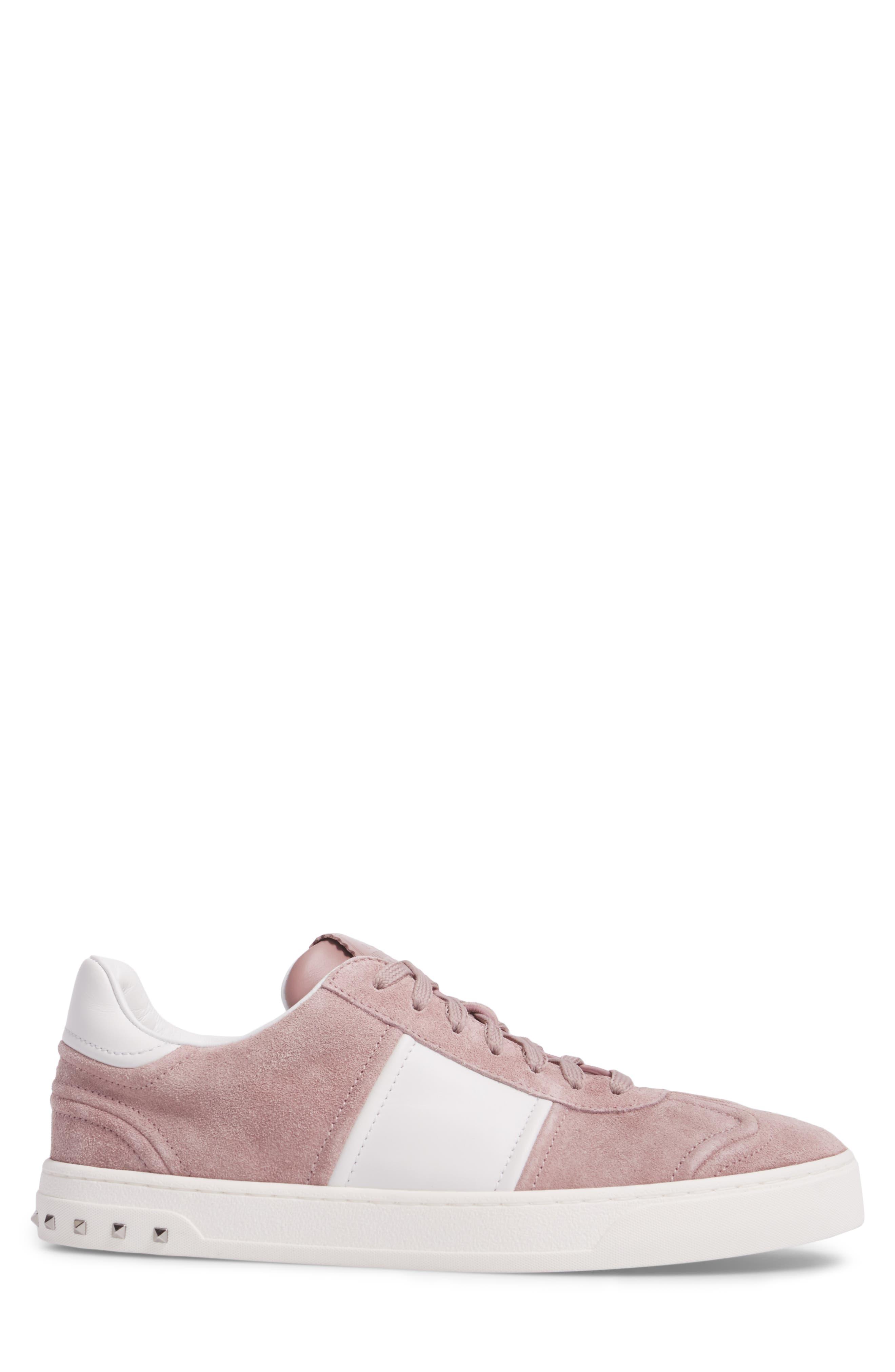Fly Crew Sneaker,                             Alternate thumbnail 3, color,                             Lipstick/ Bianco