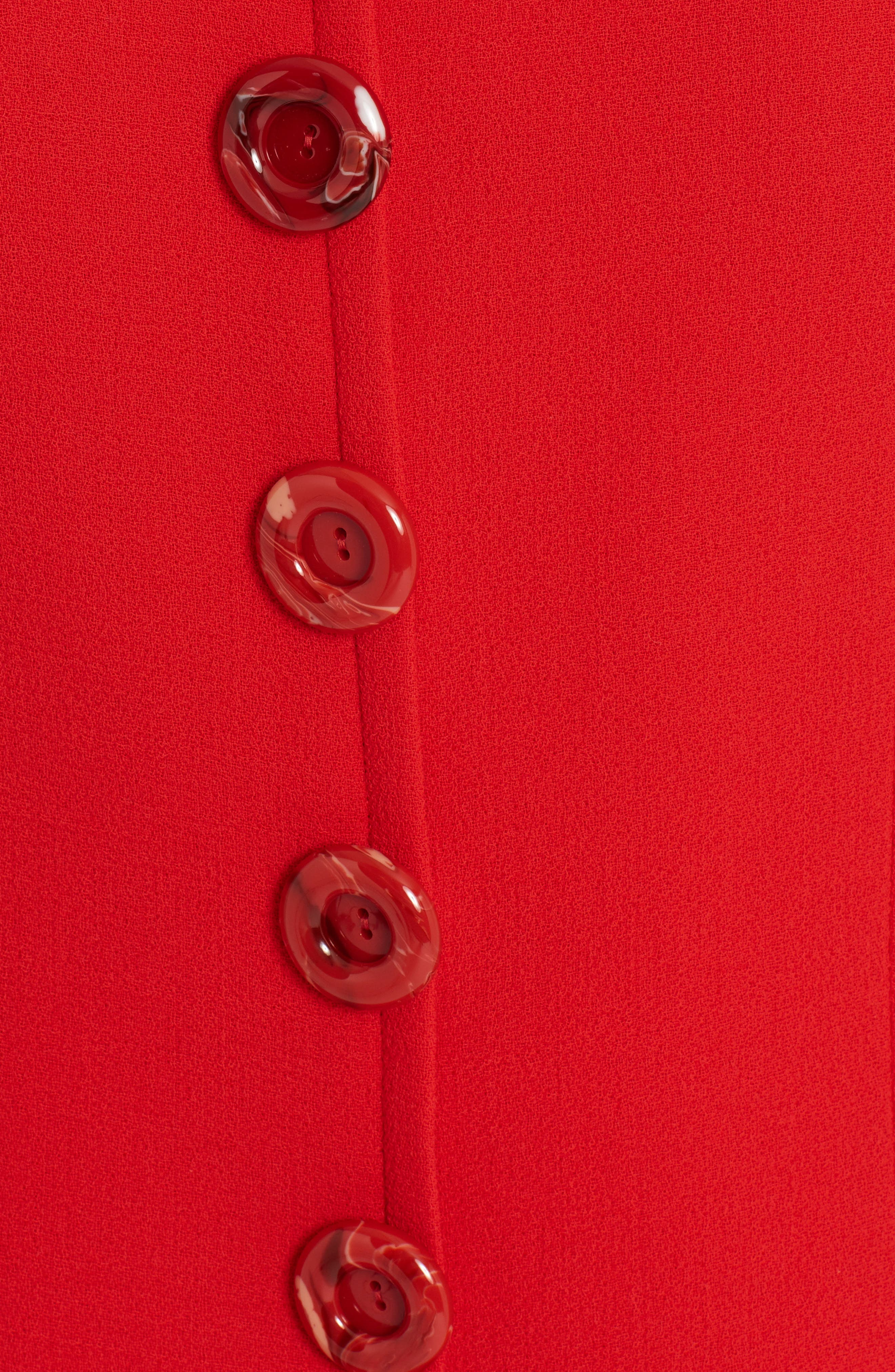 Crepe Shift Dress,                             Alternate thumbnail 5, color,                             Red