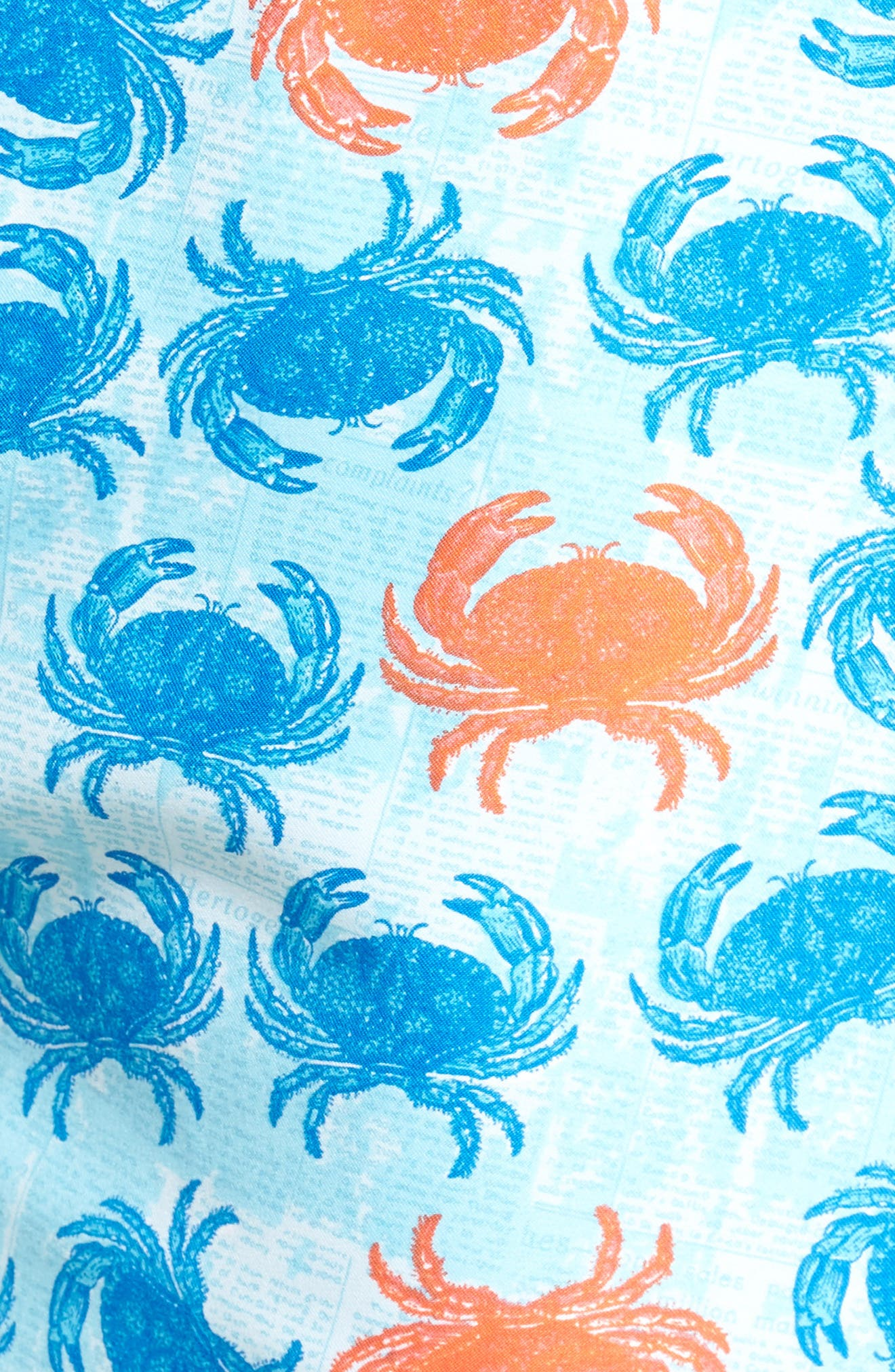 Crab Shack Swim Shorts,                             Alternate thumbnail 5, color,                             Atlantic Blue