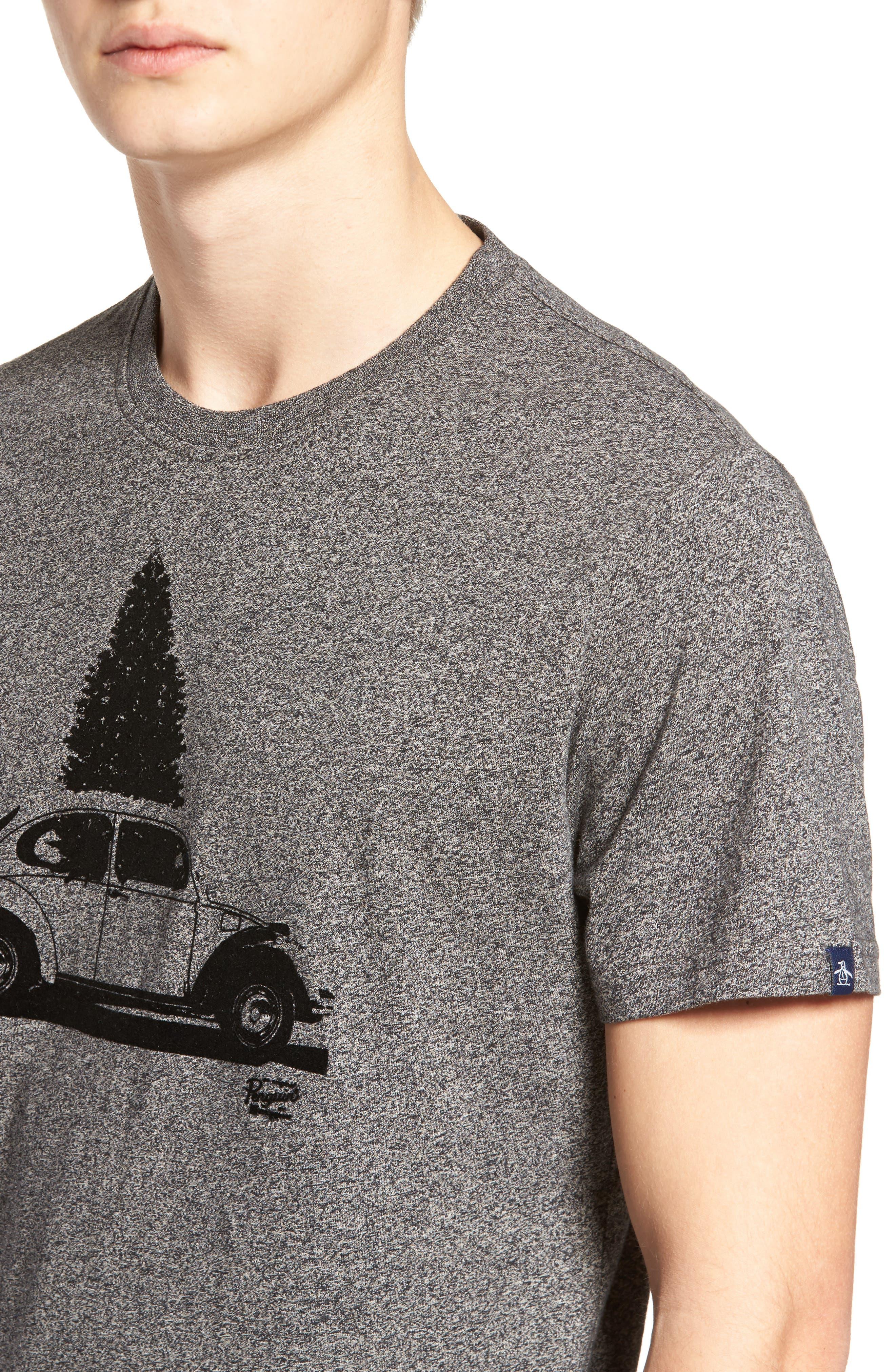 Alternate Image 4  - Original Penguin Flocked Christmas Car T-Shirt