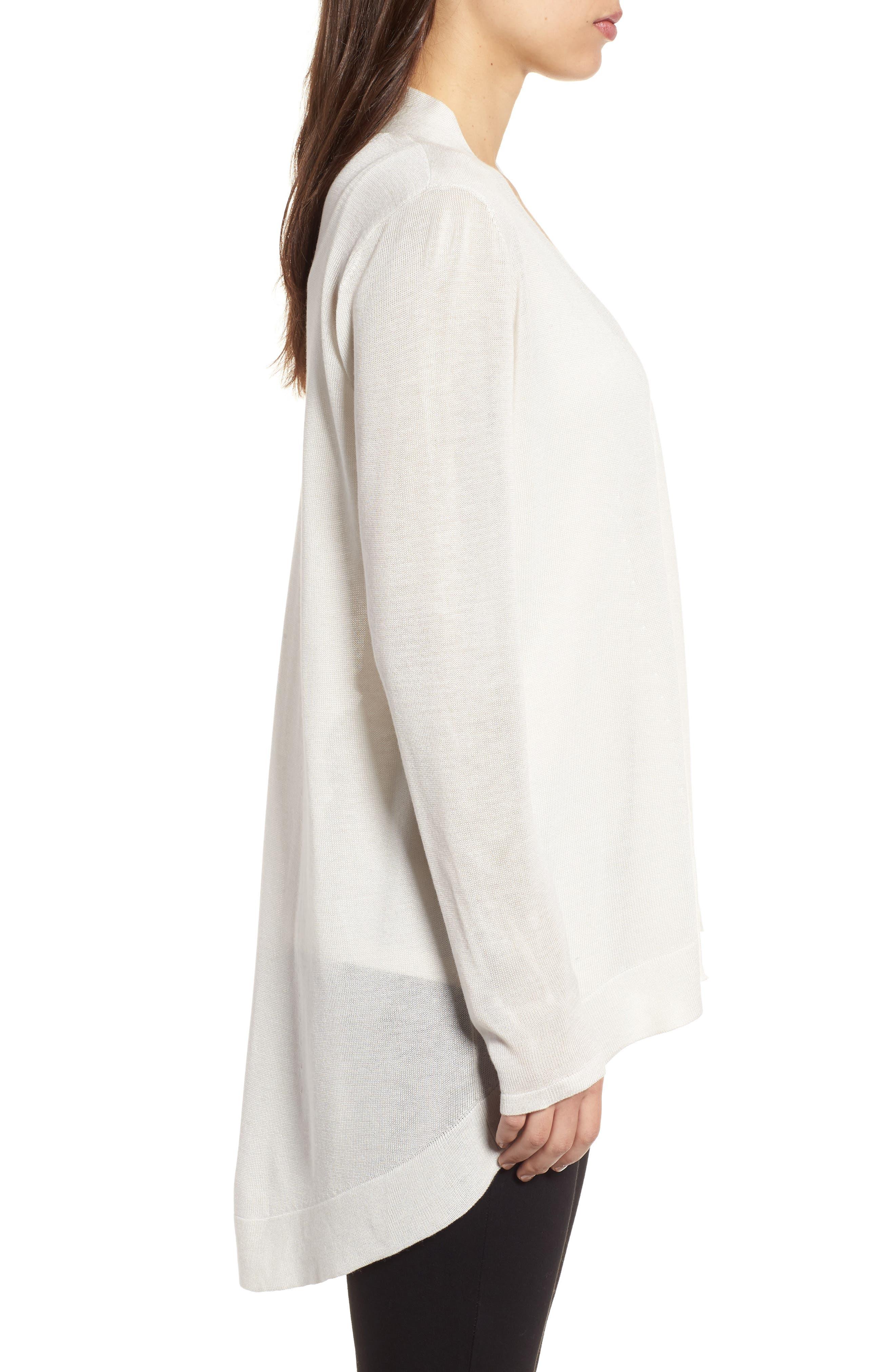Alternate Image 3  - Eileen Fisher Tencel® & Merino Wool Shaped Cardigan