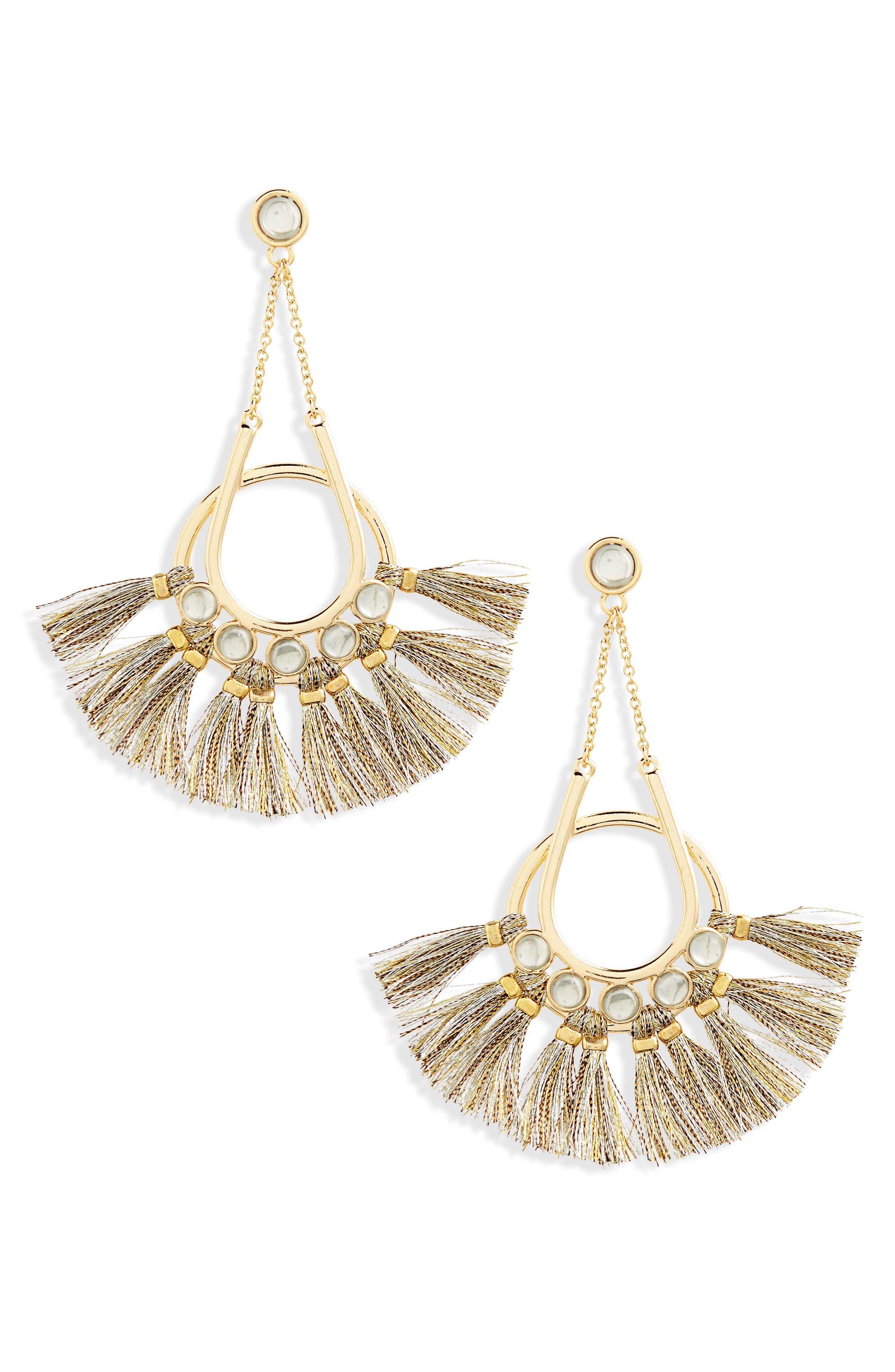 Utopia Tassel Chandelier Earrings,                             Main thumbnail 1, color,                             Gold