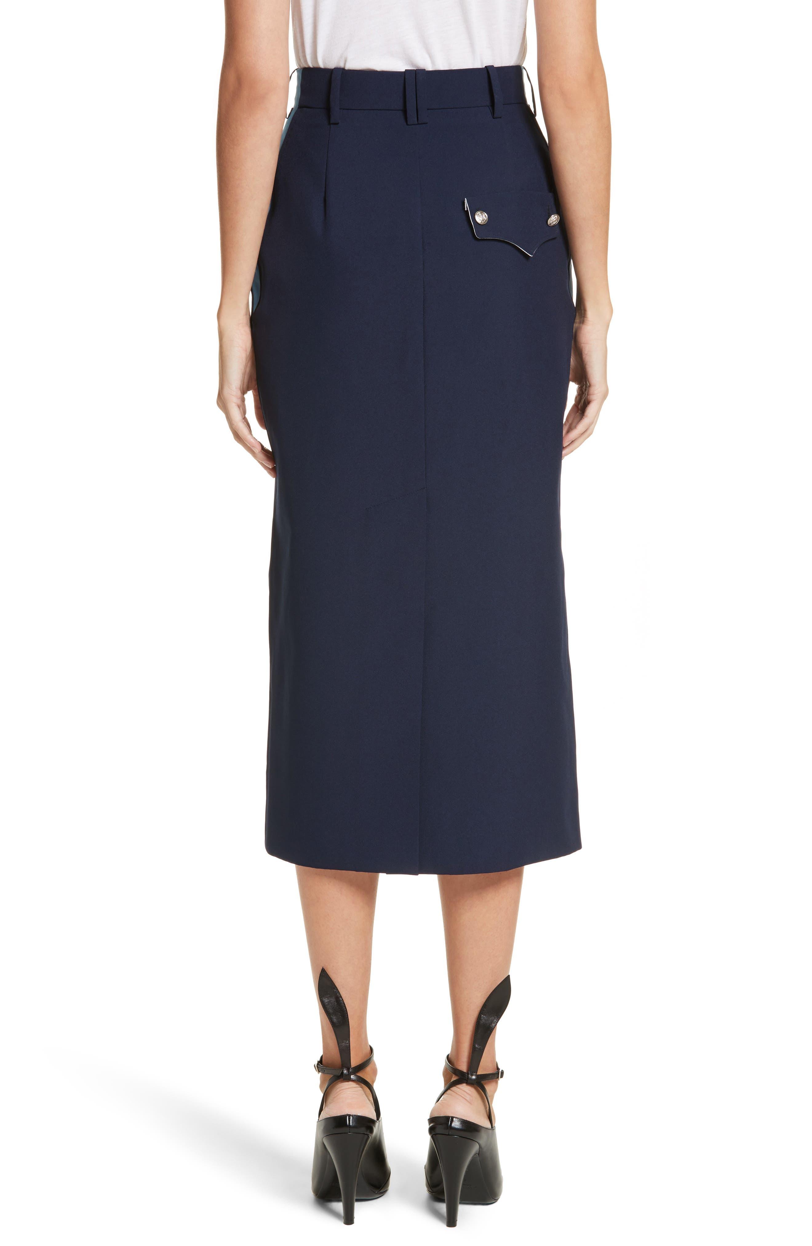 Uniform Midi Skirt,                             Alternate thumbnail 2, color,                             Marine