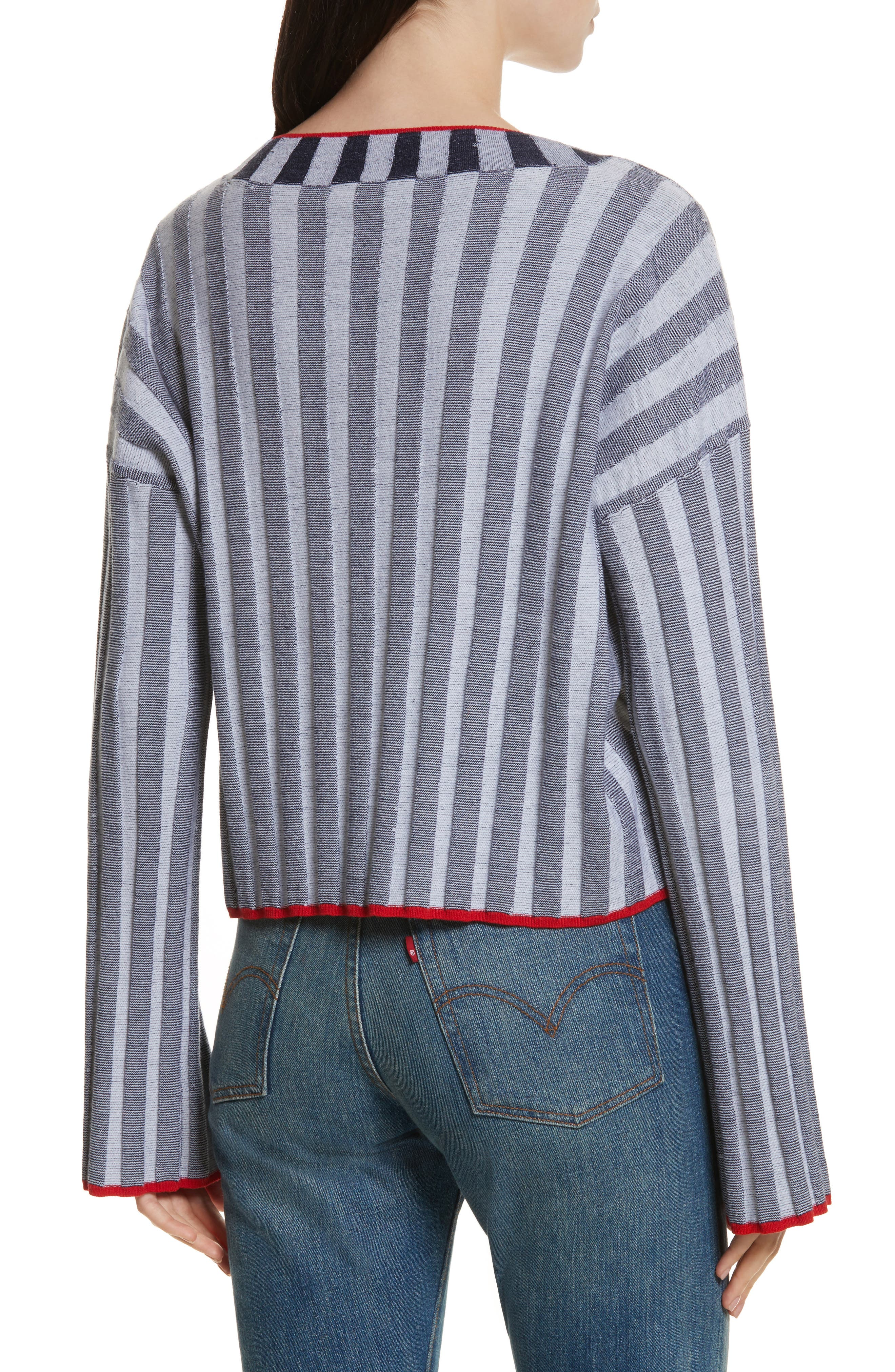 Alternate Image 2  - Elizabeth and James Campbell Stripe Merino Wool Blend Sweater