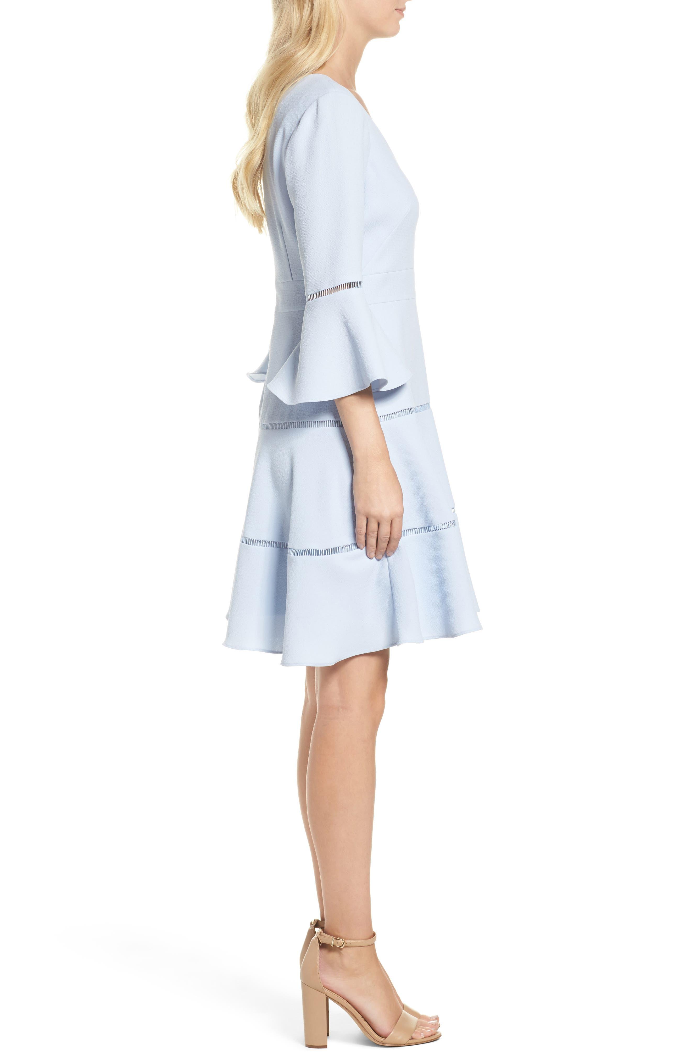 Alternate Image 3  - Eliza J Lace Inset Fit & Flare Dress (Regular & Petite)