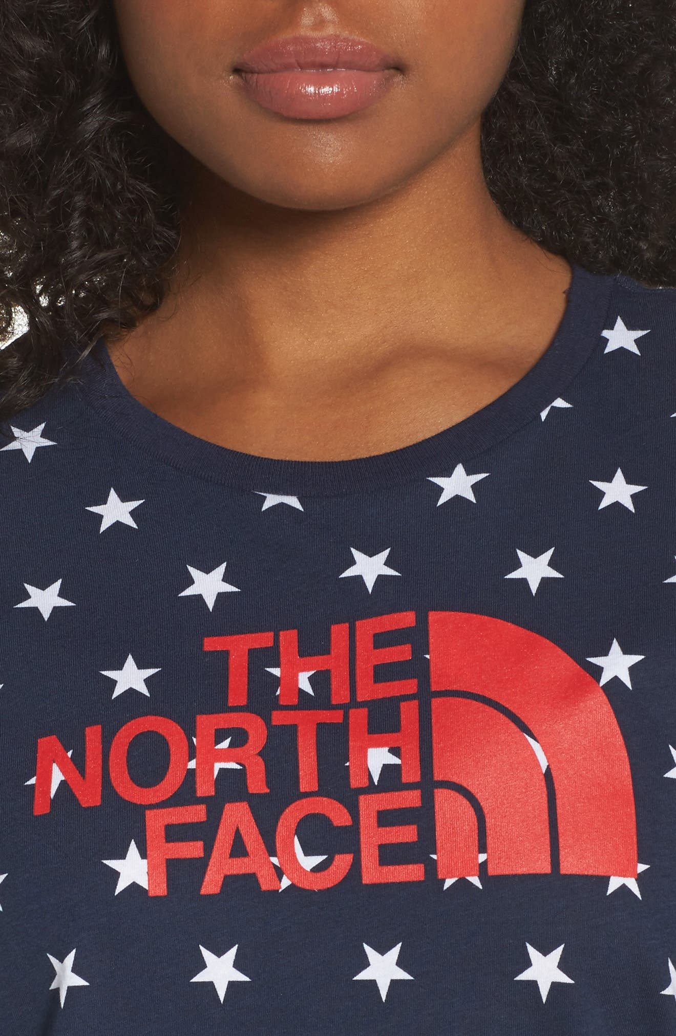 International Collection Tee,                             Alternate thumbnail 4, color,                             Cosmic Blue Star Print