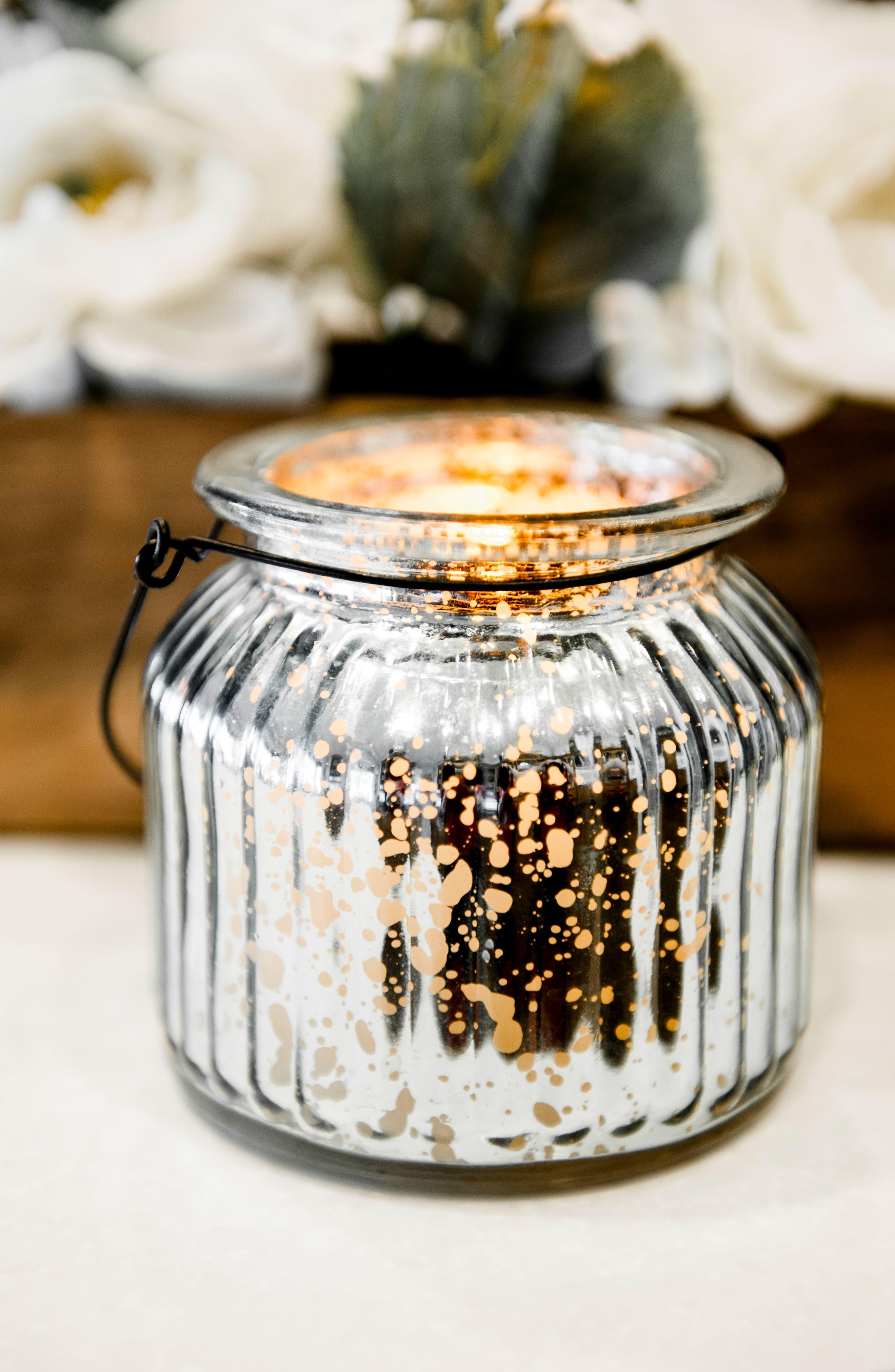 Alternate Image 2  - Amazing Flameless Candle Mercury Glass Jar Flameless Candle