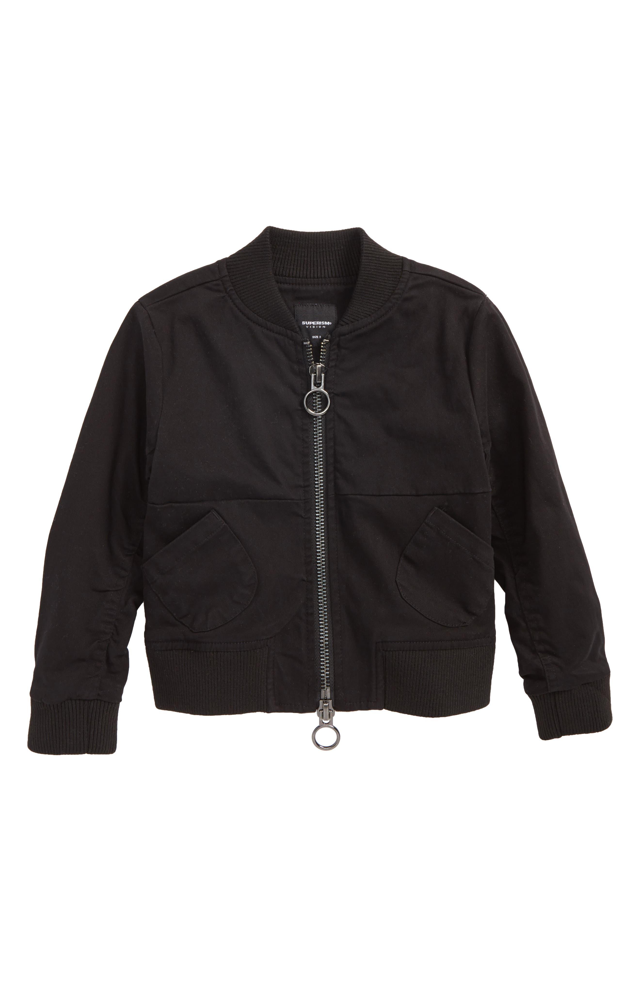Charlie Bomber Jacket,                         Main,                         color, Black