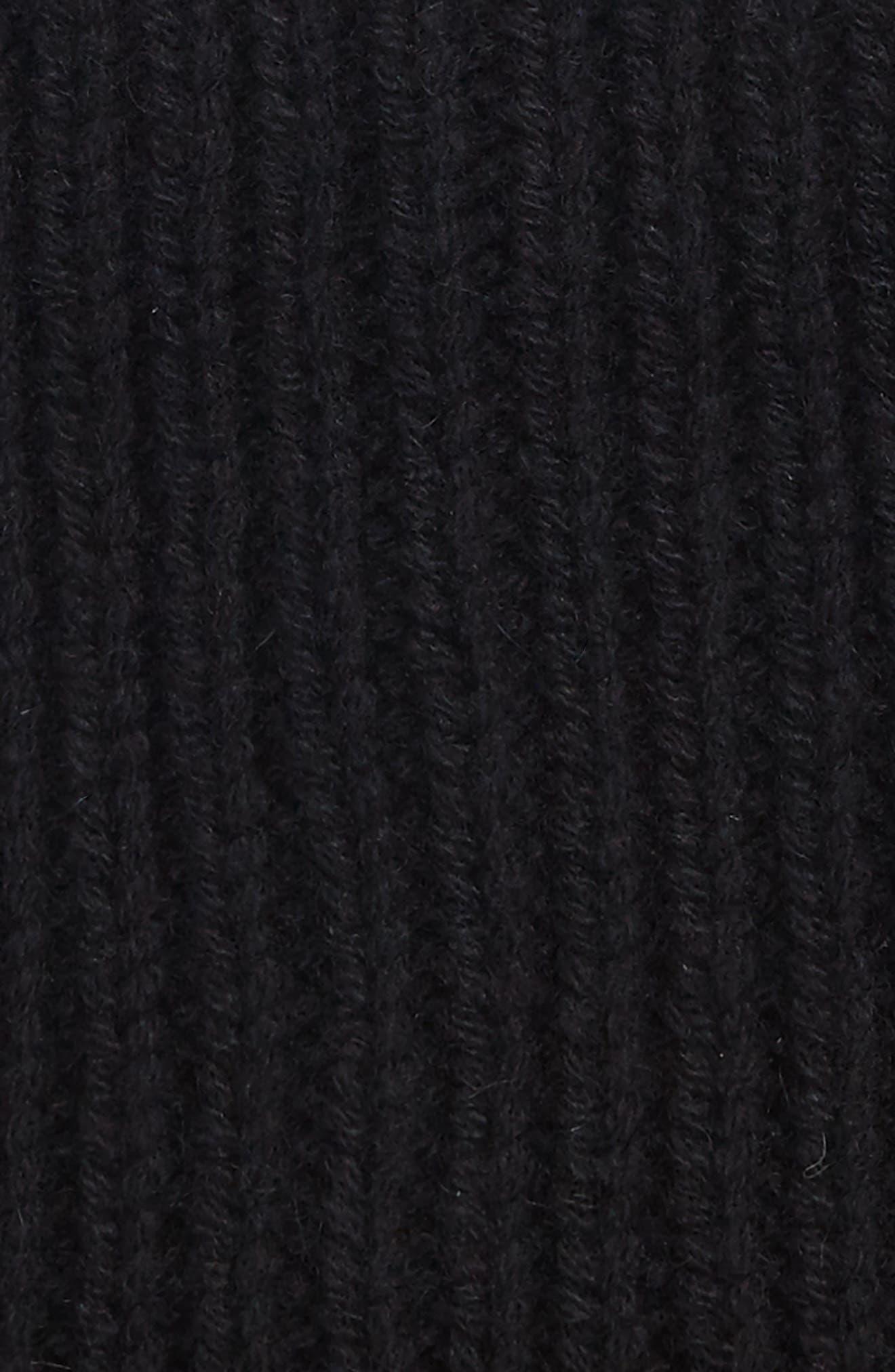 Cardi Wool Blend Beanie,                             Alternate thumbnail 2, color,                             Black