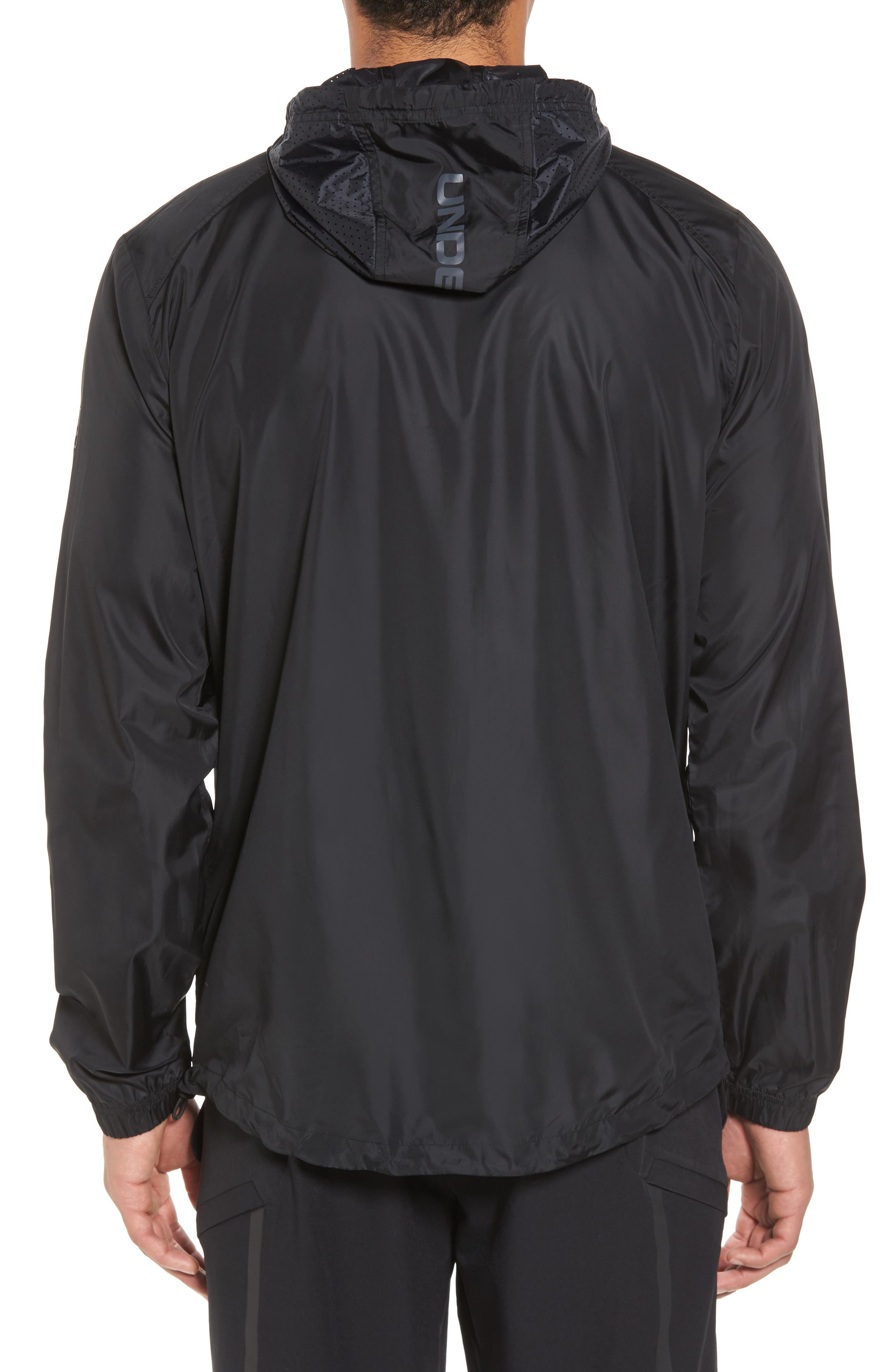 Sportstyle Windbreaker,                             Alternate thumbnail 4, color,                             Black / Overcast Grey