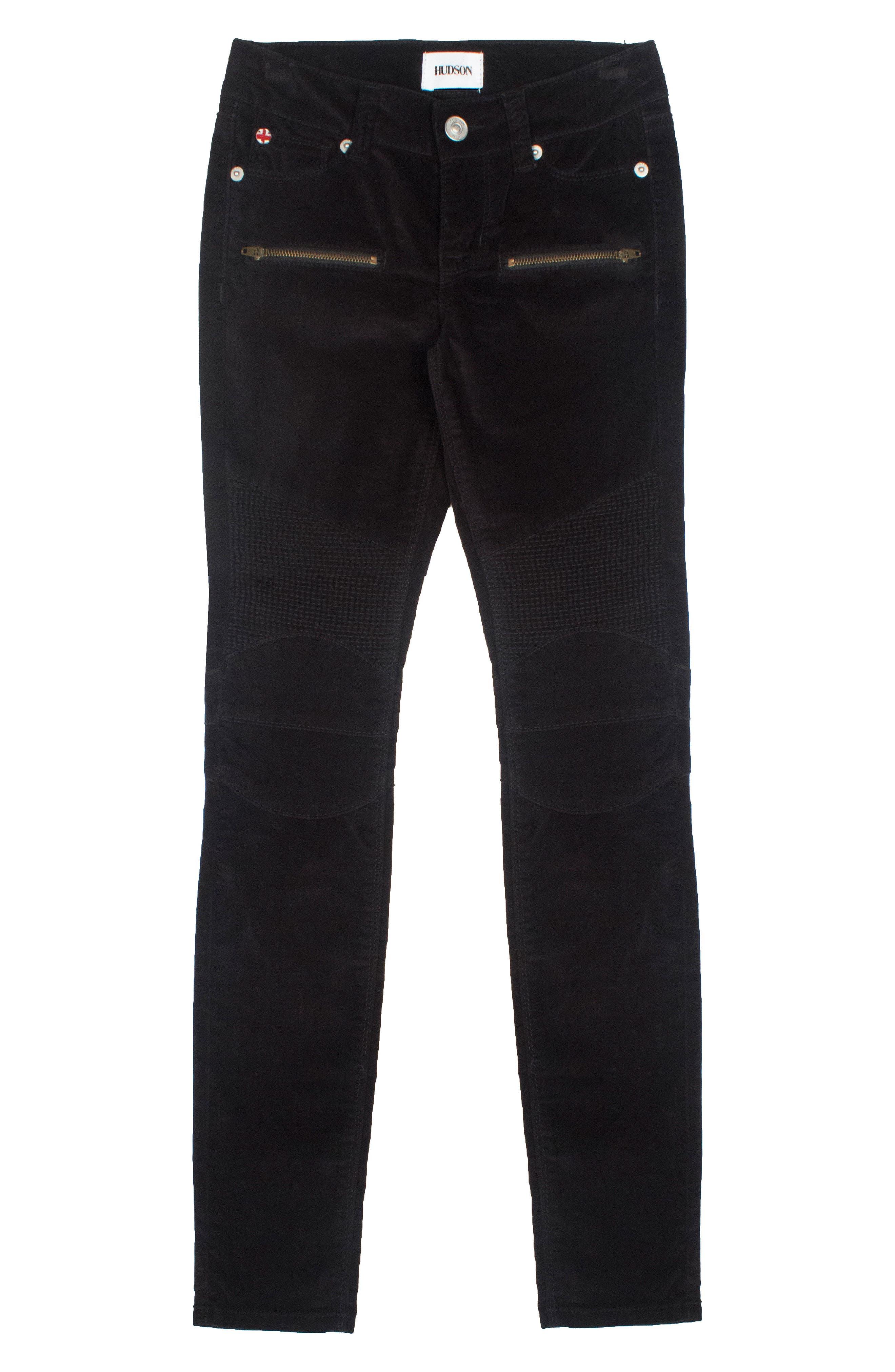 Hudson Kids Velvet Moto Skinny Jeans (Big Girls)