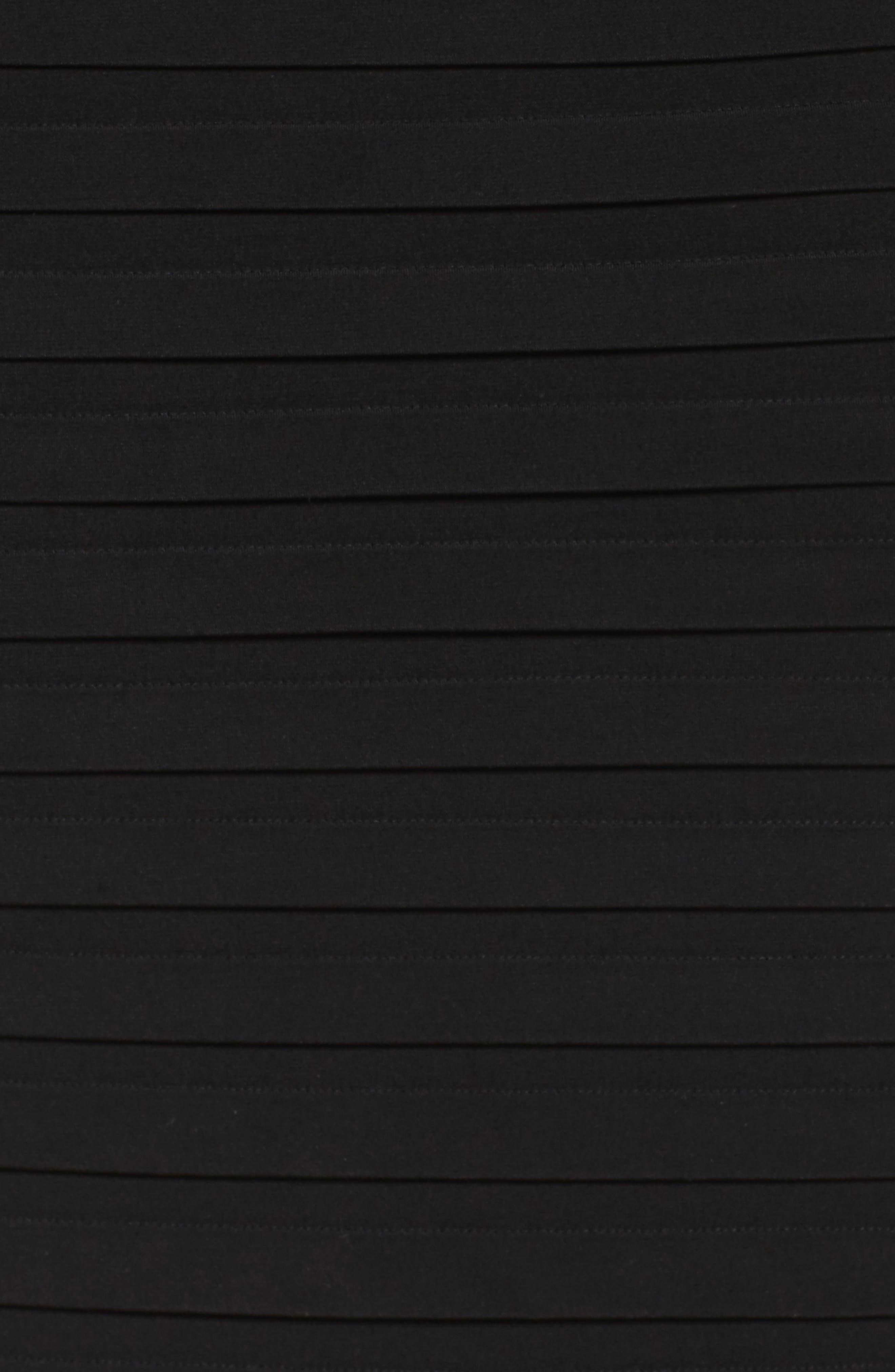 Matte Jersey Shutter Pleat Dress,                             Alternate thumbnail 5, color,                             Black