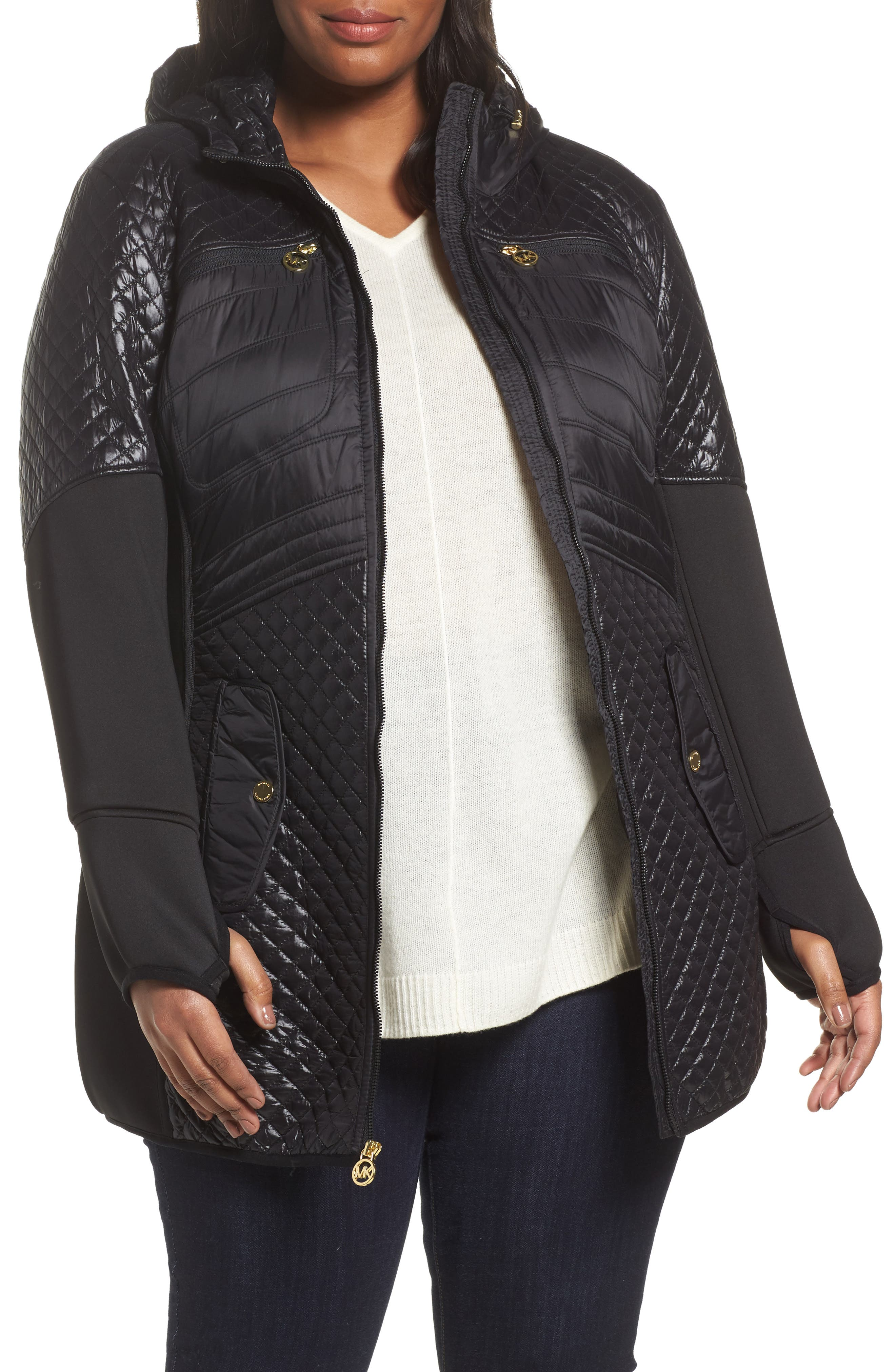 MICHAEL Michael Kors Quilted Anorak (Plus Size)