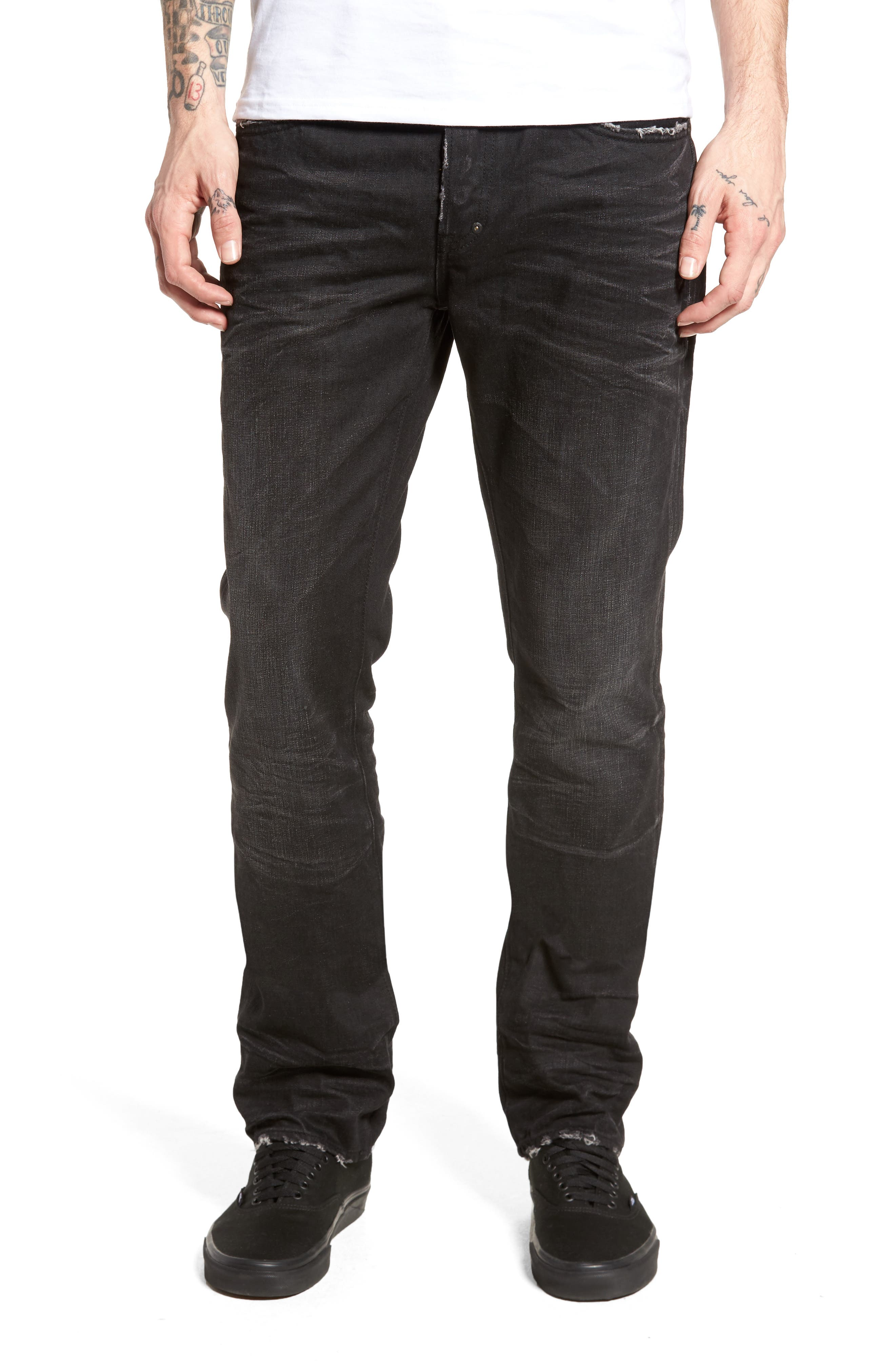 Main Image - PRPS Slim Straight Leg Jeans (Sternum)