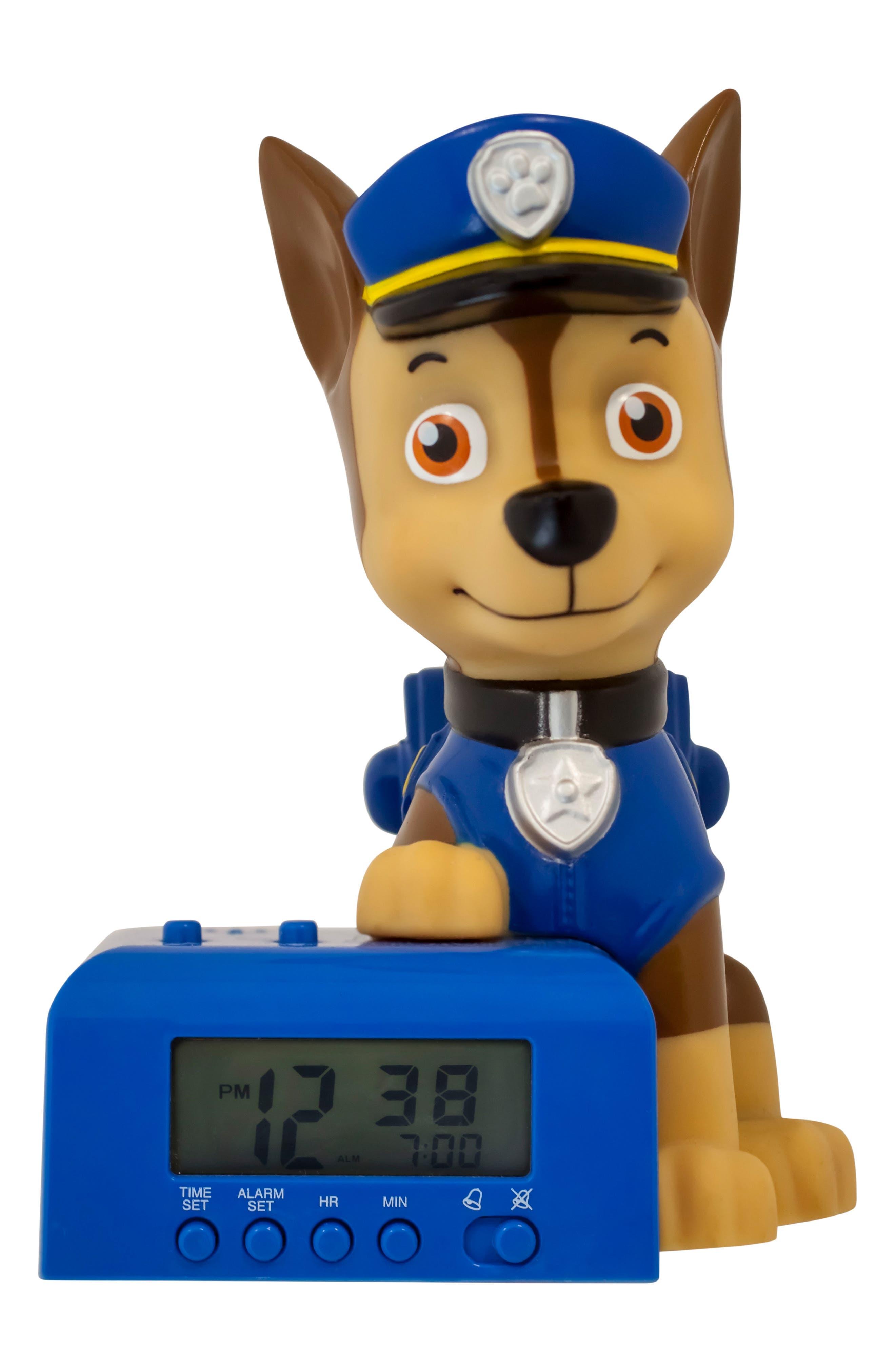 Paw Patrol - Chase Night-Light/Alarm Clock,                             Main thumbnail 1, color,                             White