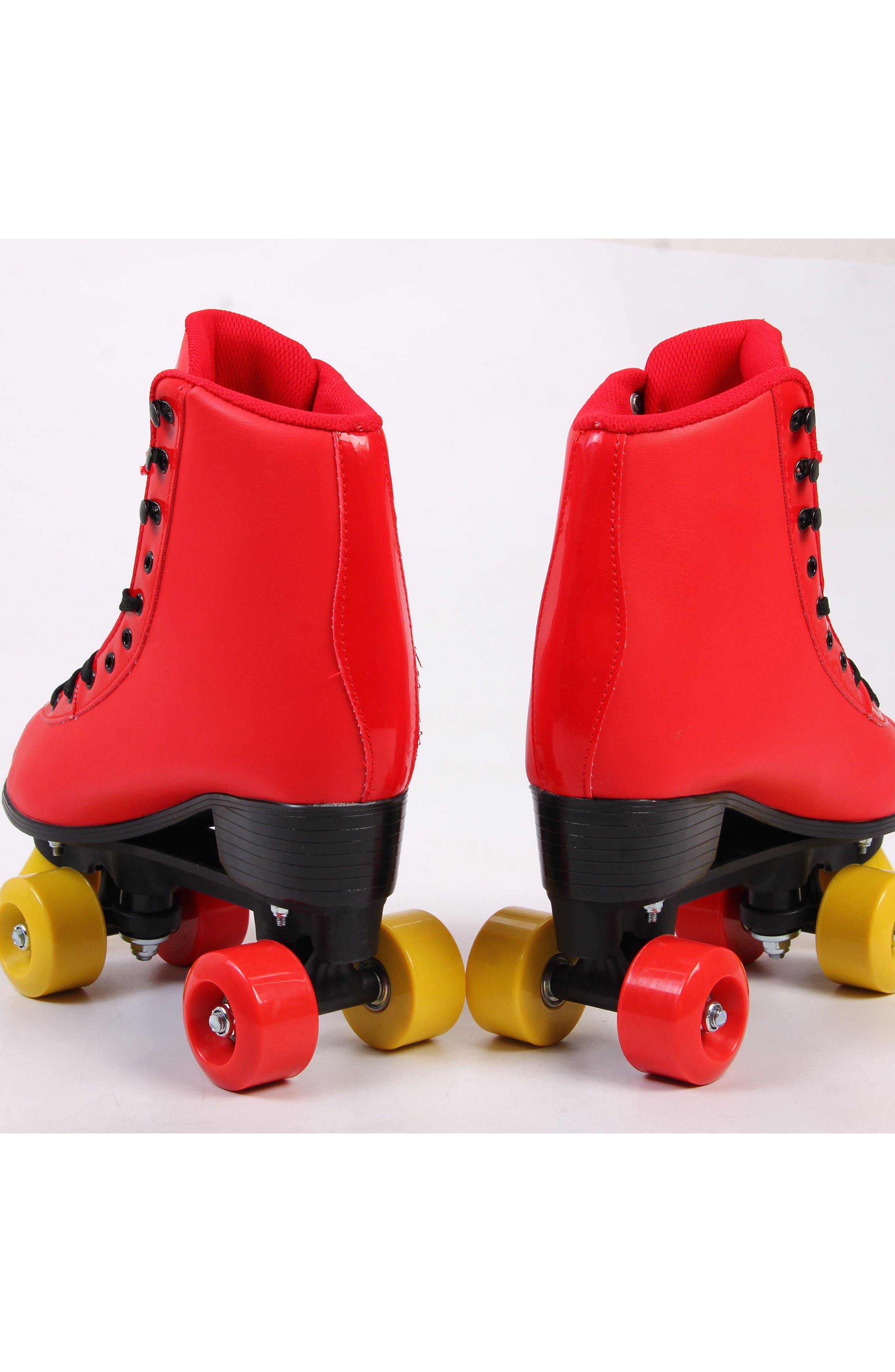 Classic Roller Skates,                             Alternate thumbnail 4, color,                             Ferrari Red