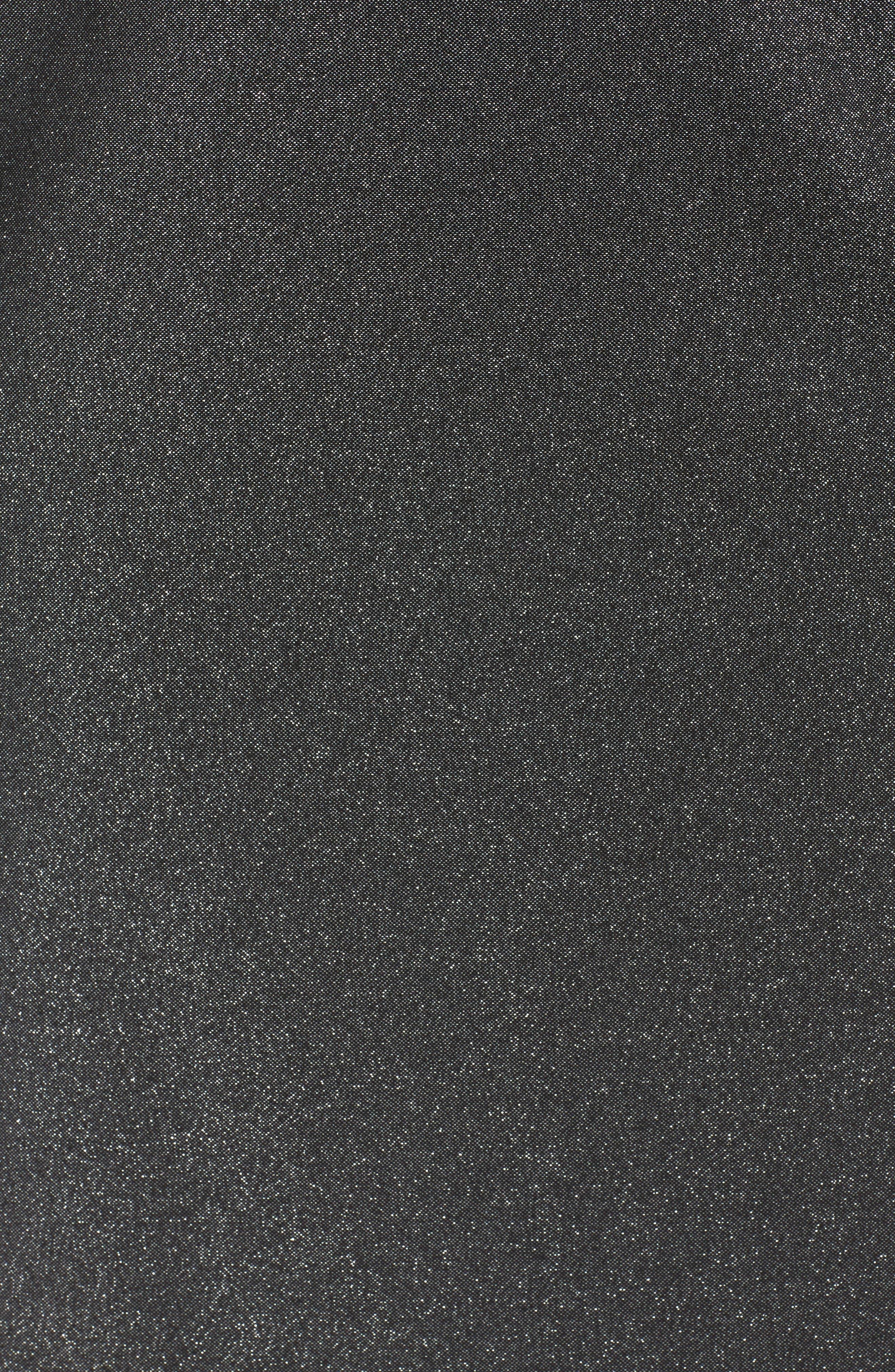 Off the Shoulder Metallic Sheath Dress,                             Alternate thumbnail 5, color,                             Rich Black
