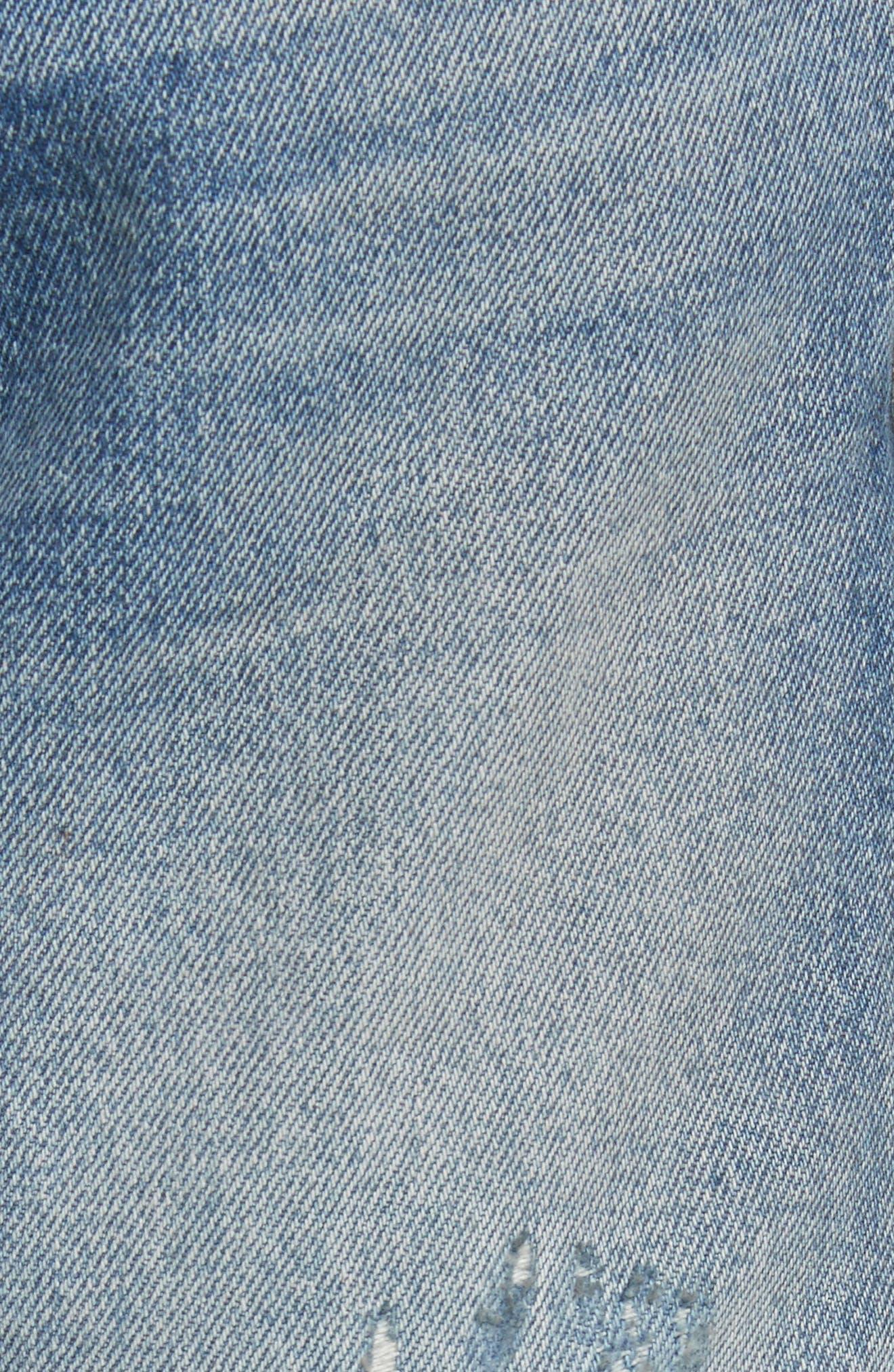 Re-Release Le Original Raw Edge High Waist Jeans,                             Alternate thumbnail 6, color,                             Horne