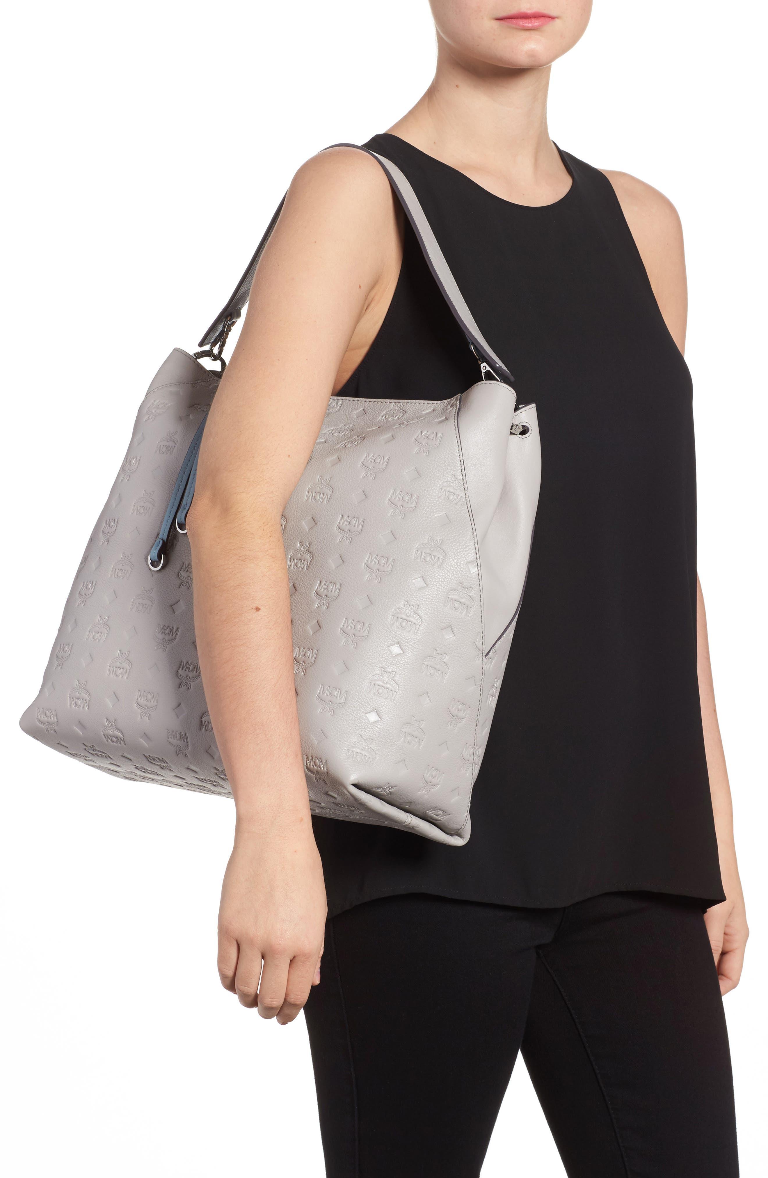 Alternate Image 2  - MCM Klara Monogrammed Leather Hobo Bag