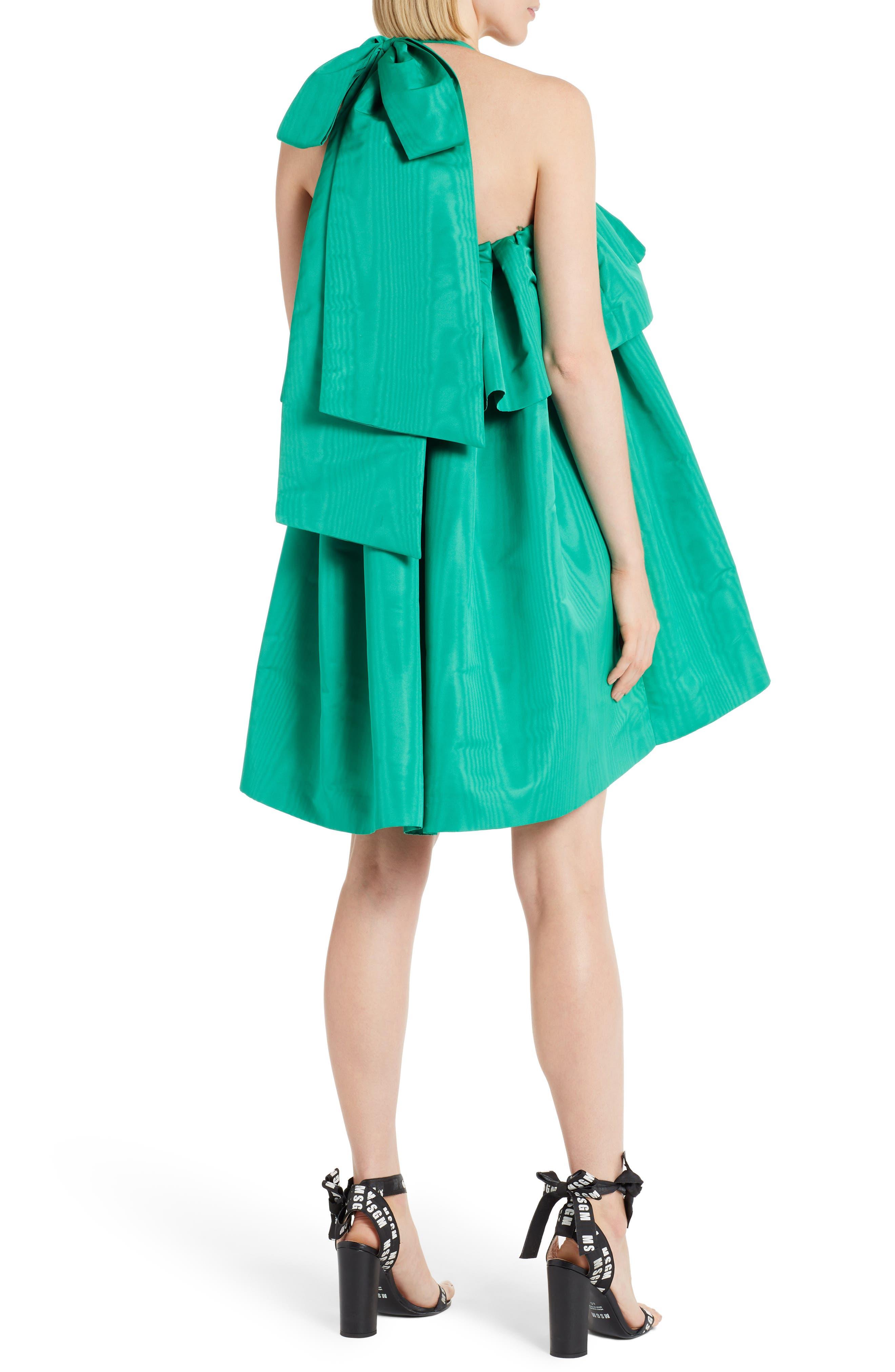 Popover Halter Dress,                             Alternate thumbnail 2, color,                             Green 36