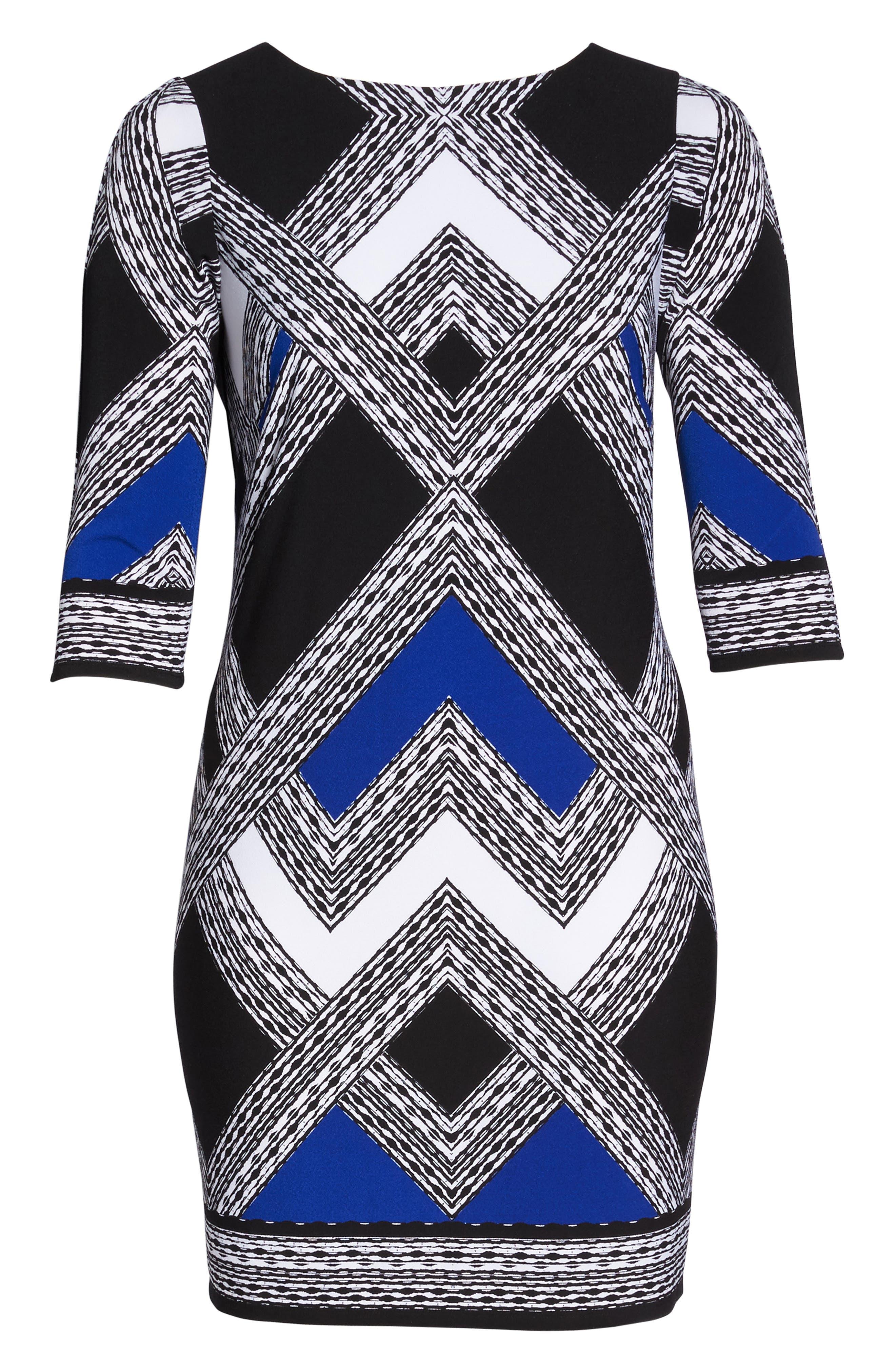 Alternate Image 6  - Vince Camuto Geo Print Shift Dress (Plus Size)
