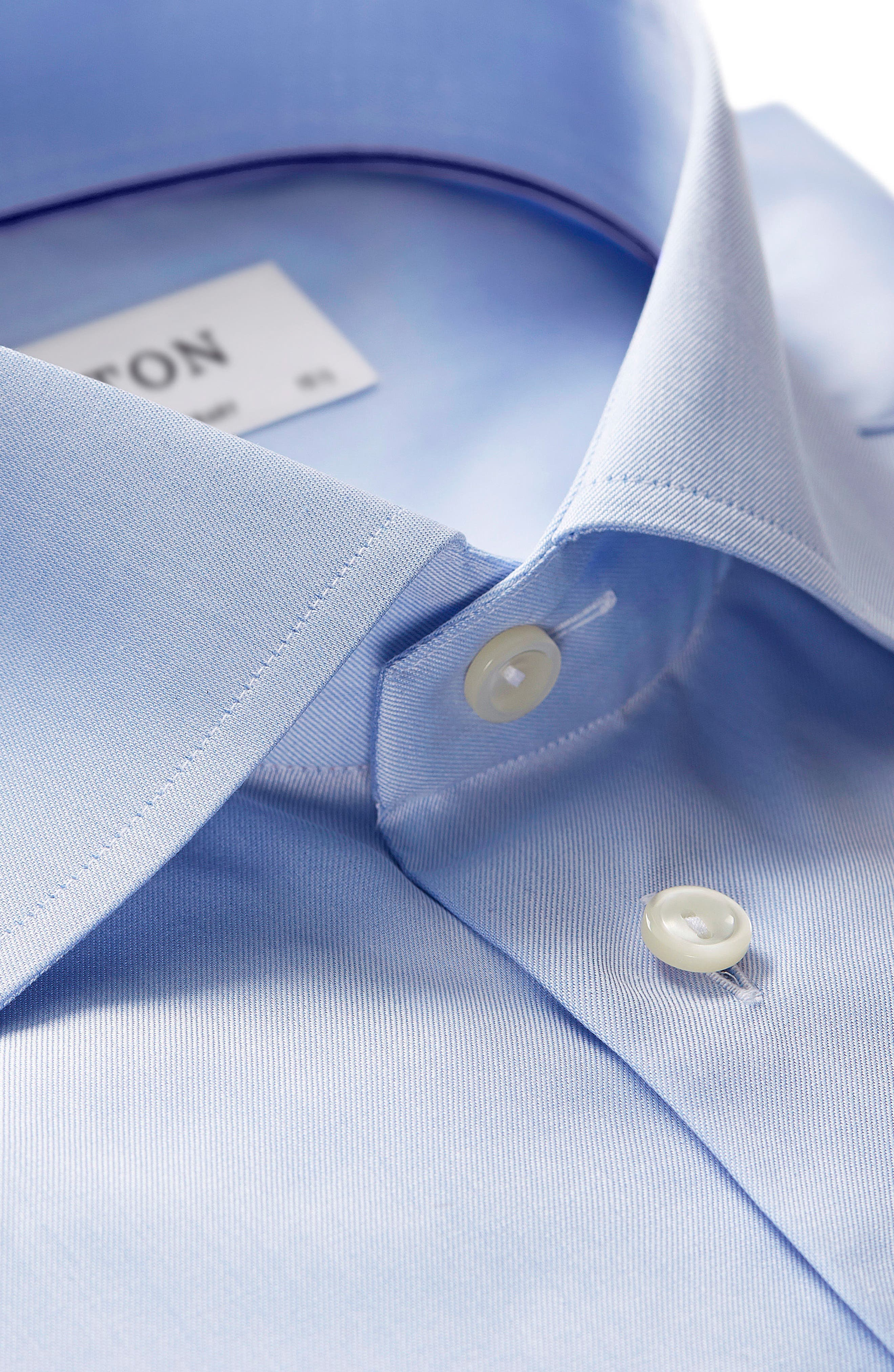 Contemporary Fit Twill Dress Shirt,                             Alternate thumbnail 3, color,                             Blue