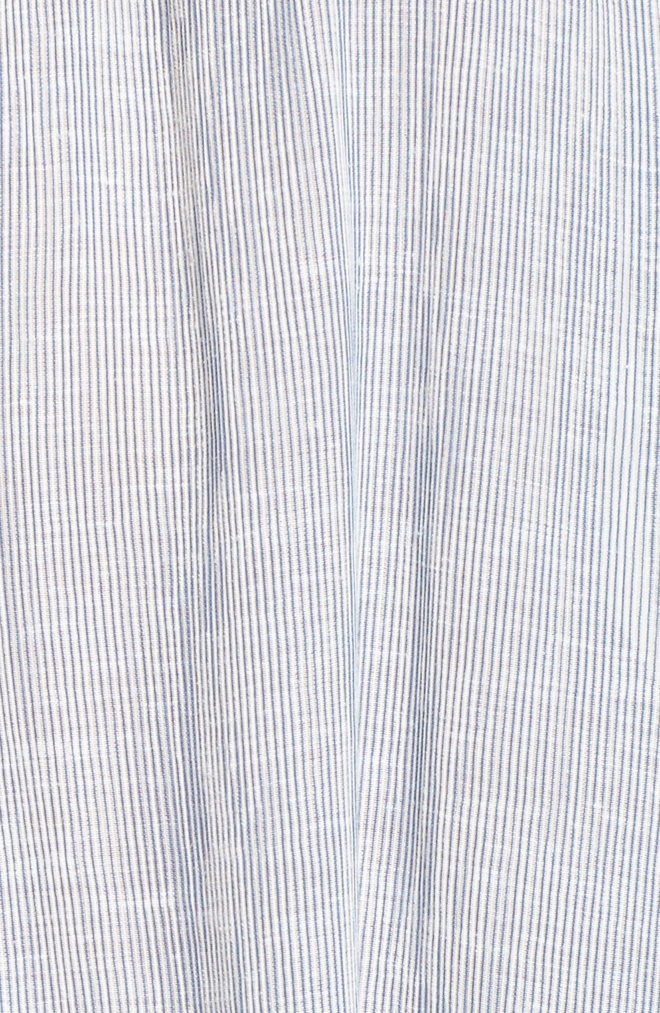 Tallulah Off the Shoulder Blouse,                             Alternate thumbnail 5, color,                             Navy/ White