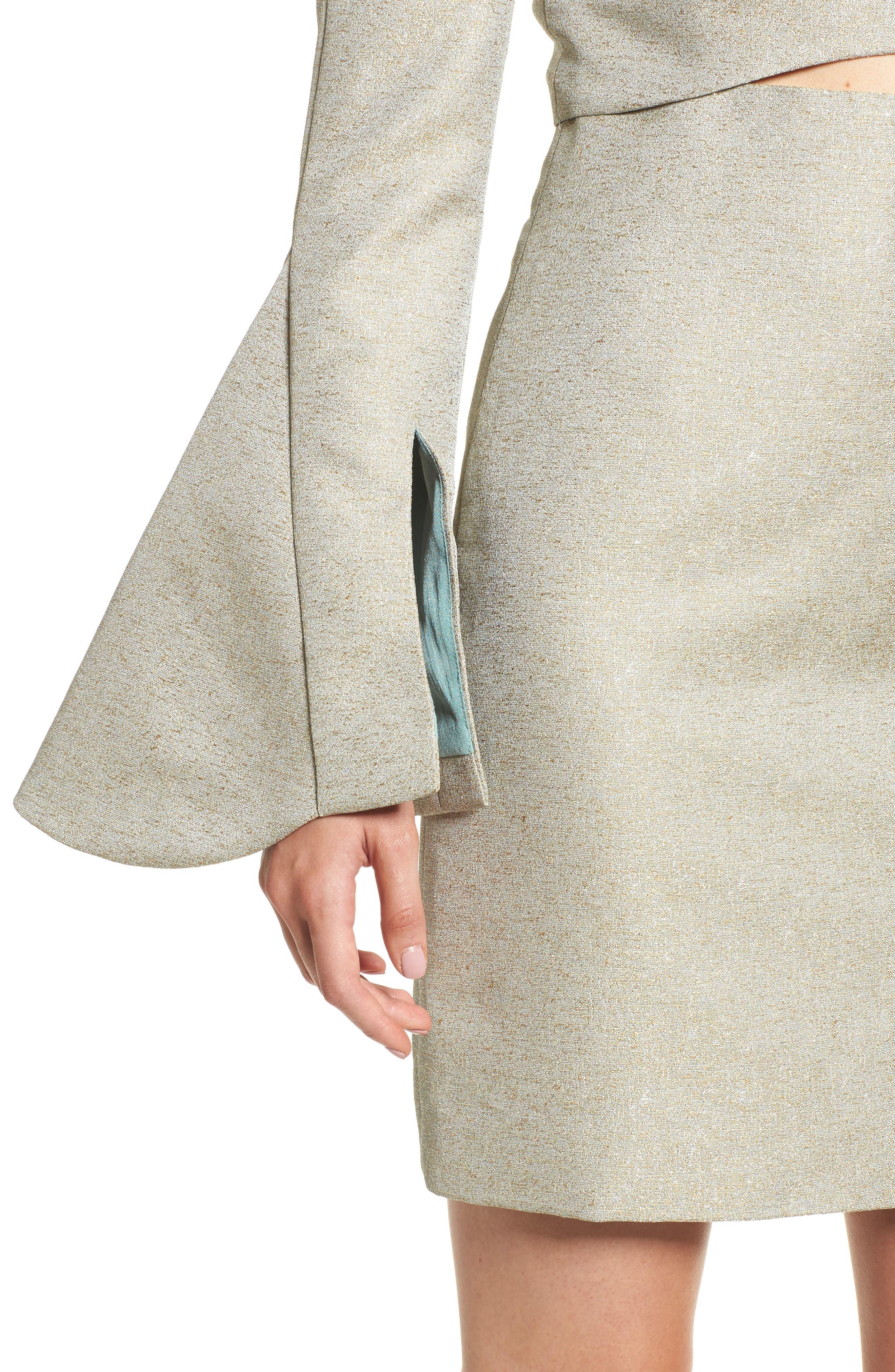 Valencia One-Shoulder Minidress,                             Alternate thumbnail 4, color,                             Sage