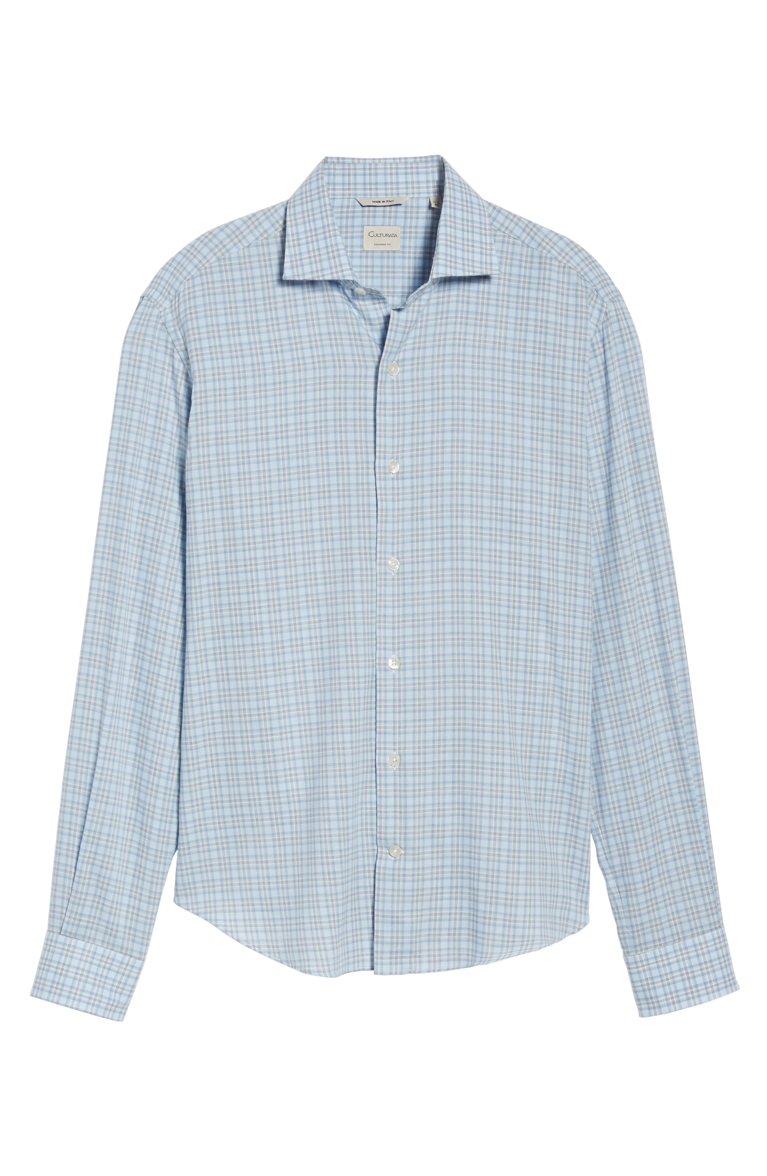 Plaid Sport Shirt,                             Alternate thumbnail 6, color,                             Blue