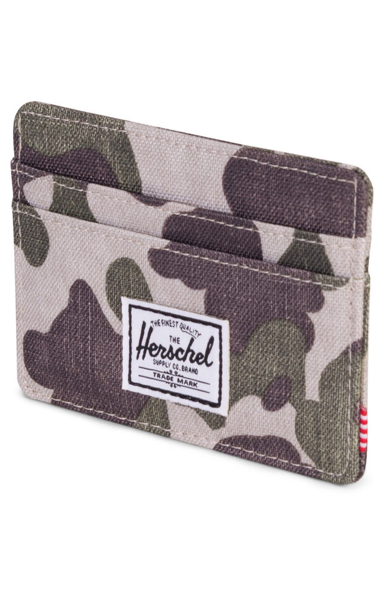 Charlie Card Case,                             Alternate thumbnail 3, color,                             Frog Camo