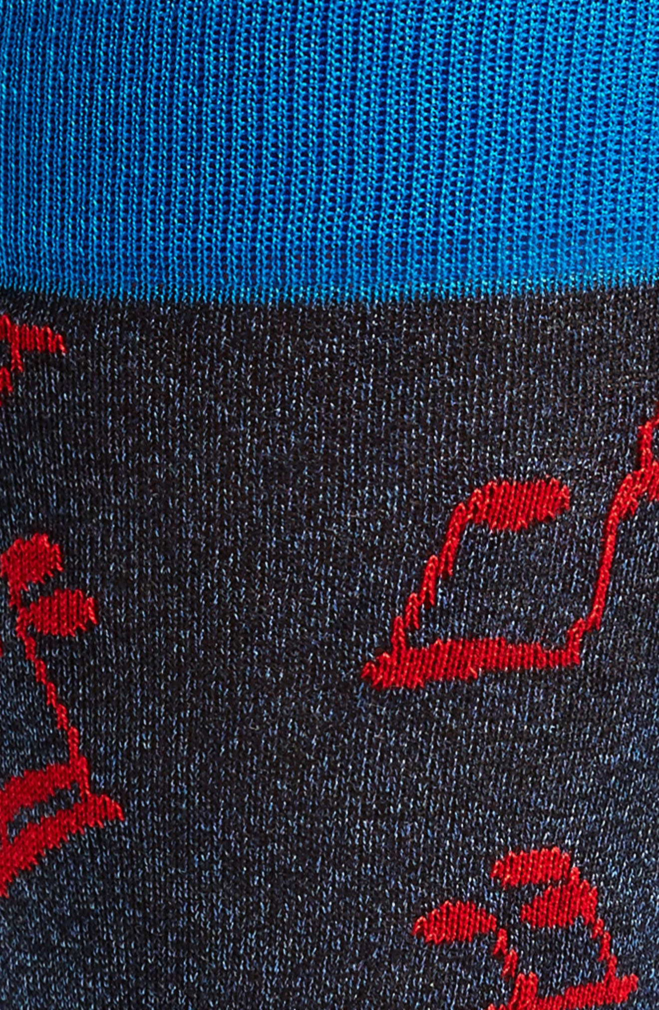 Musical Note Socks,                             Alternate thumbnail 2, color,                             Night Blue