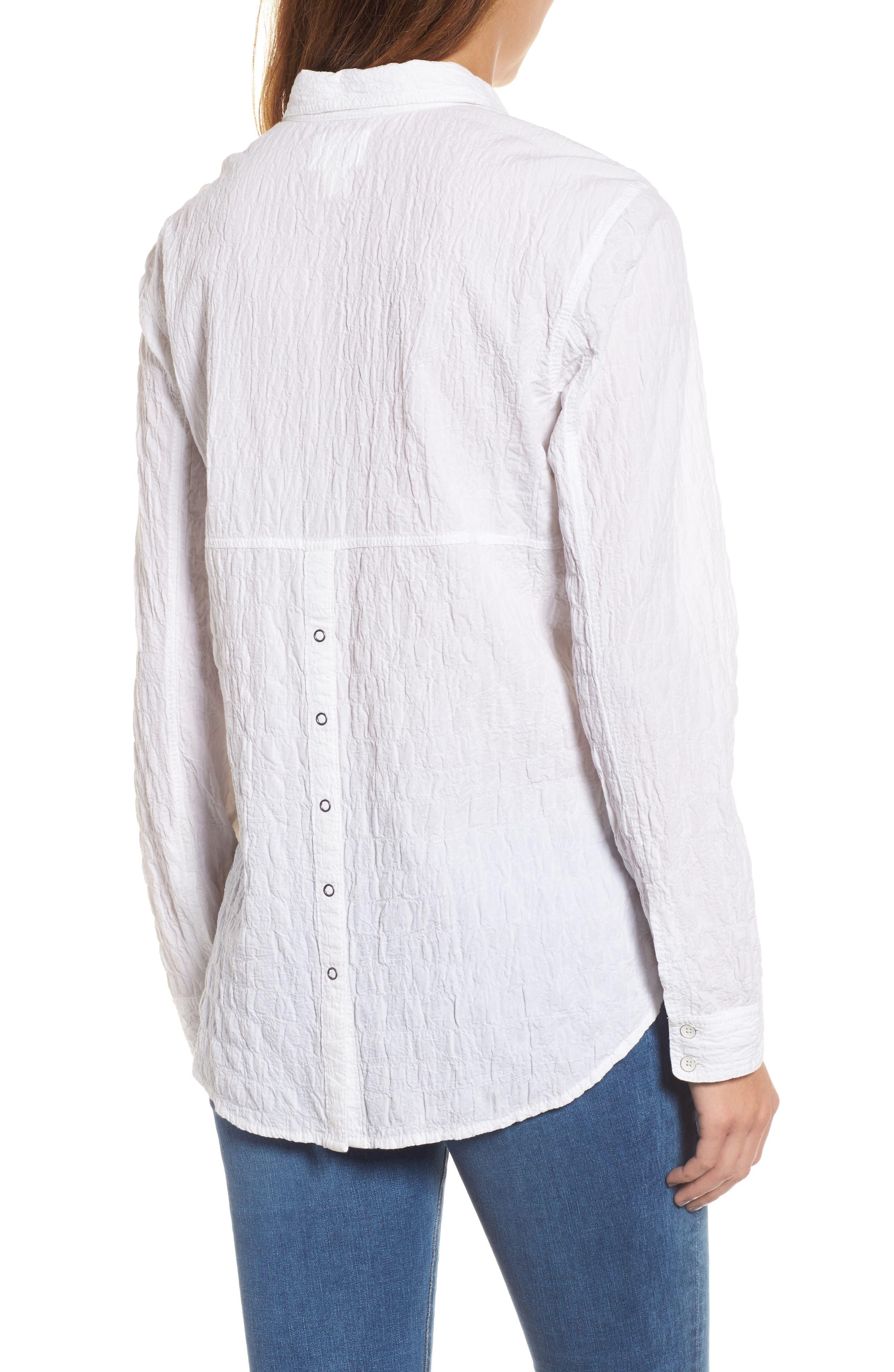 Button Up Shirt,                             Alternate thumbnail 2, color,                             White