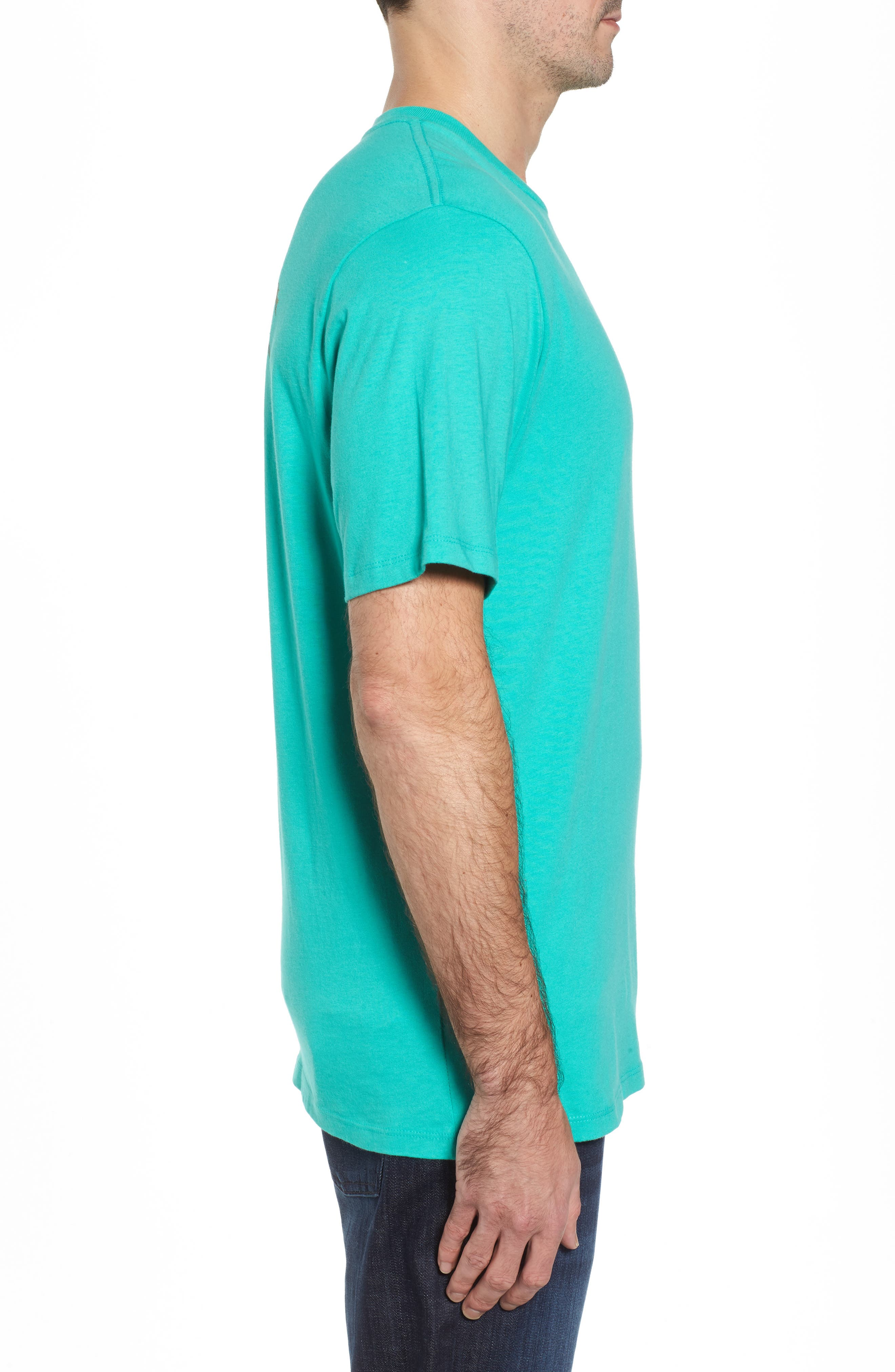 First Class Seat T-Shirt,                             Alternate thumbnail 3, color,                             Cave Green
