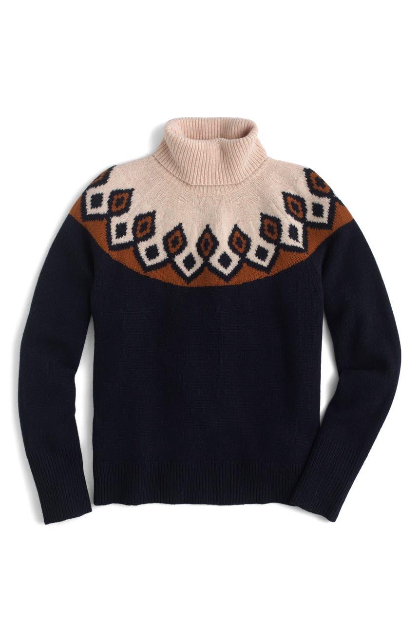 J.Crew Ambrose Fair Isle Merino Wool Sweater | Nordstrom