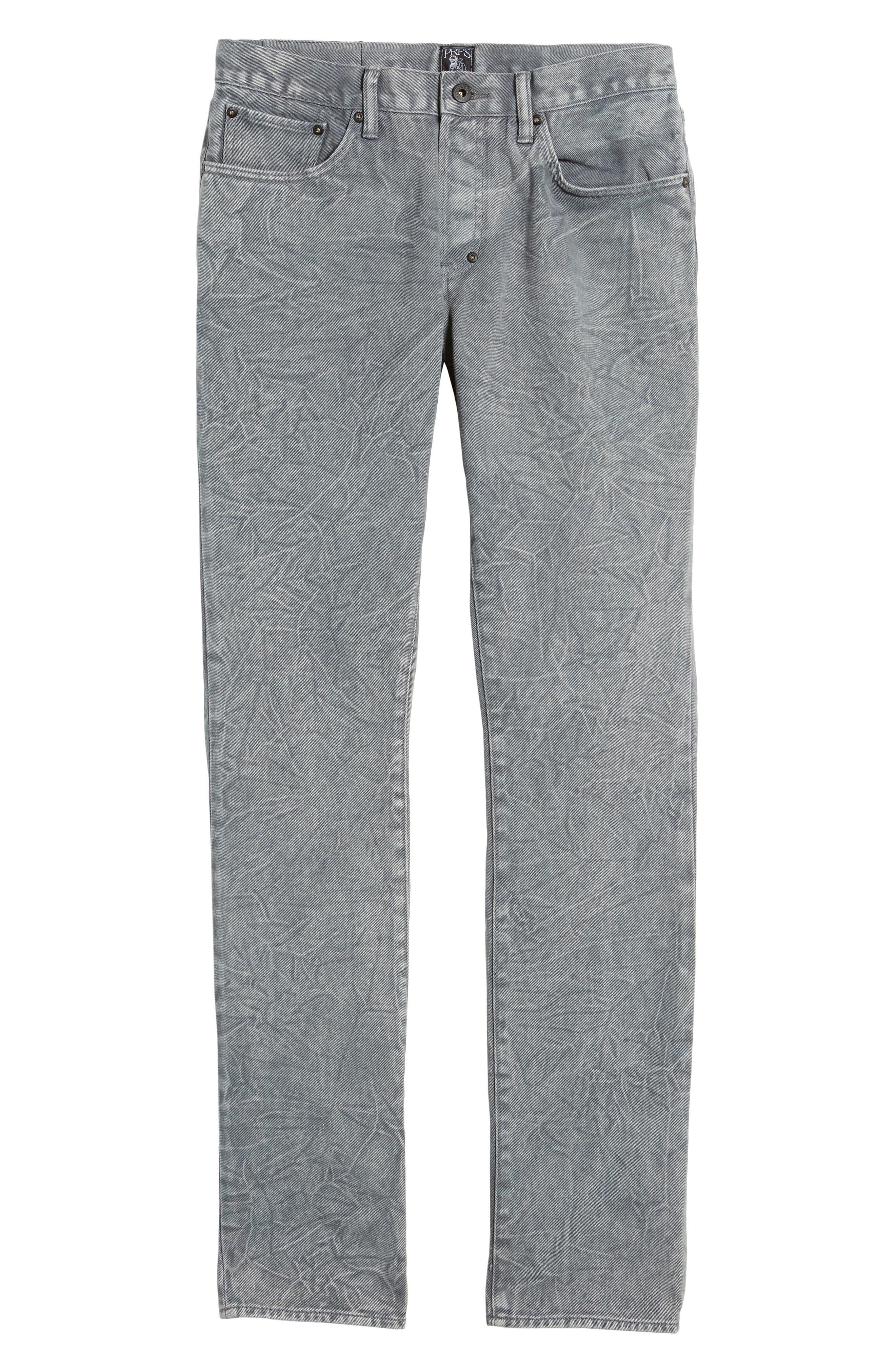 Slim Straight Leg Jeans,                             Alternate thumbnail 6, color,                             Stapes