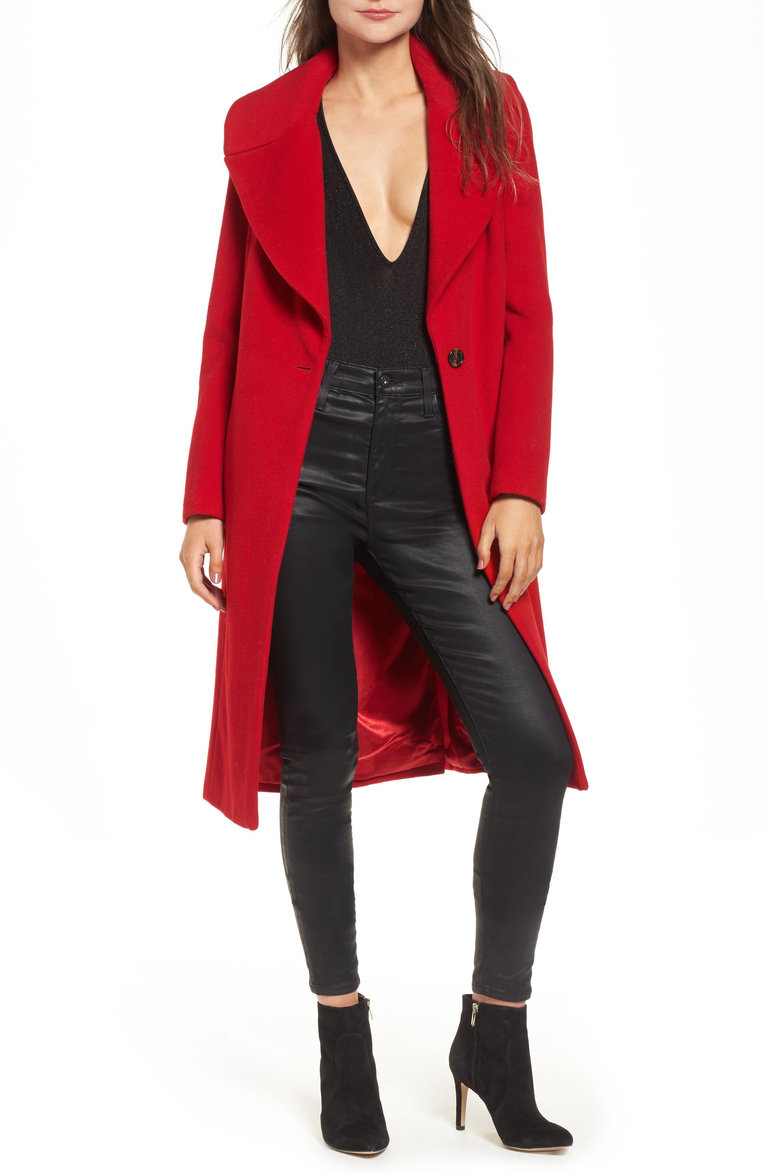 KENDALL + KYLIE Wool Blend Coat