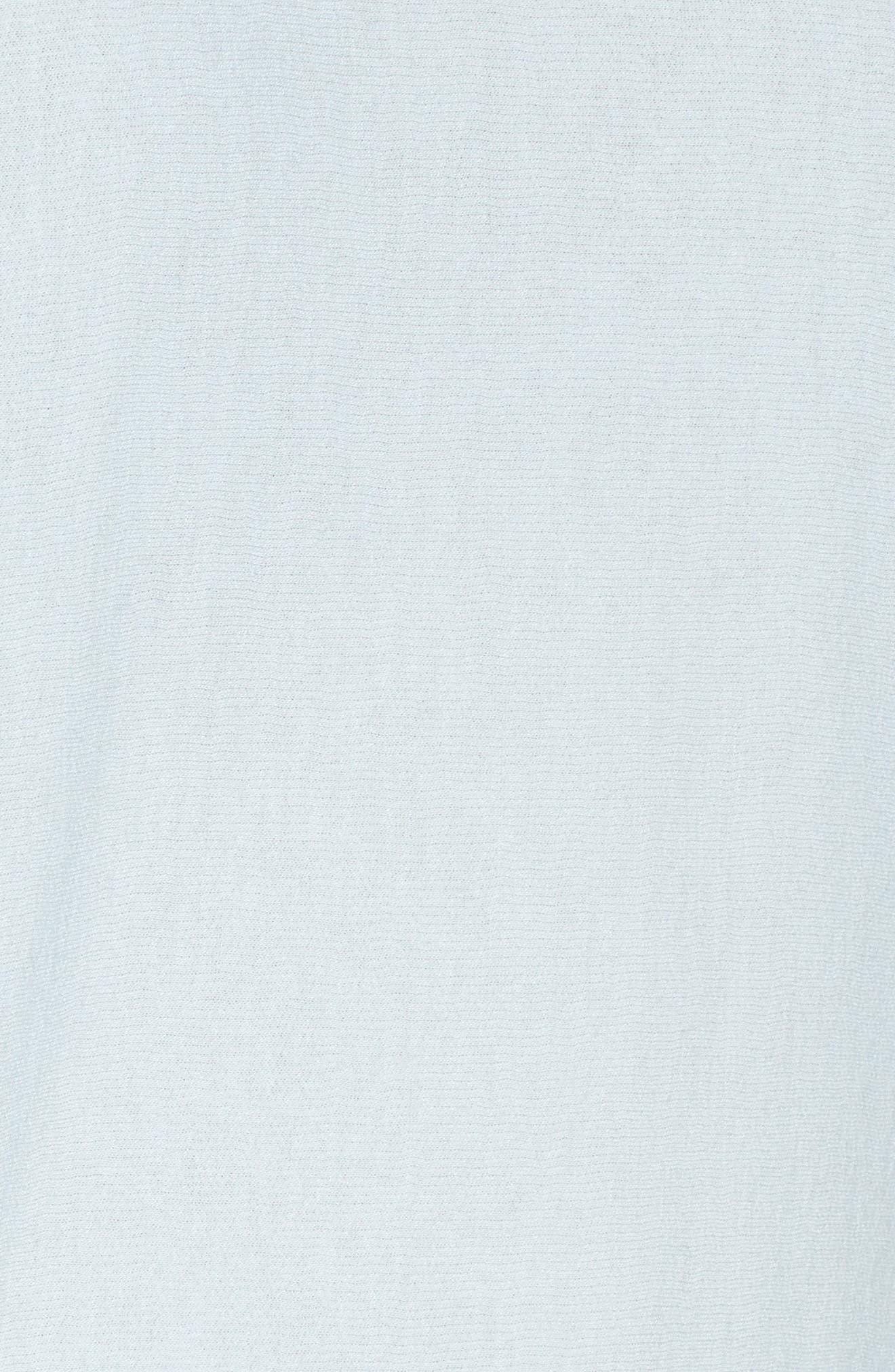 Ruched Sleeve Sweatshirt,                             Alternate thumbnail 5, color,                             Light Blue