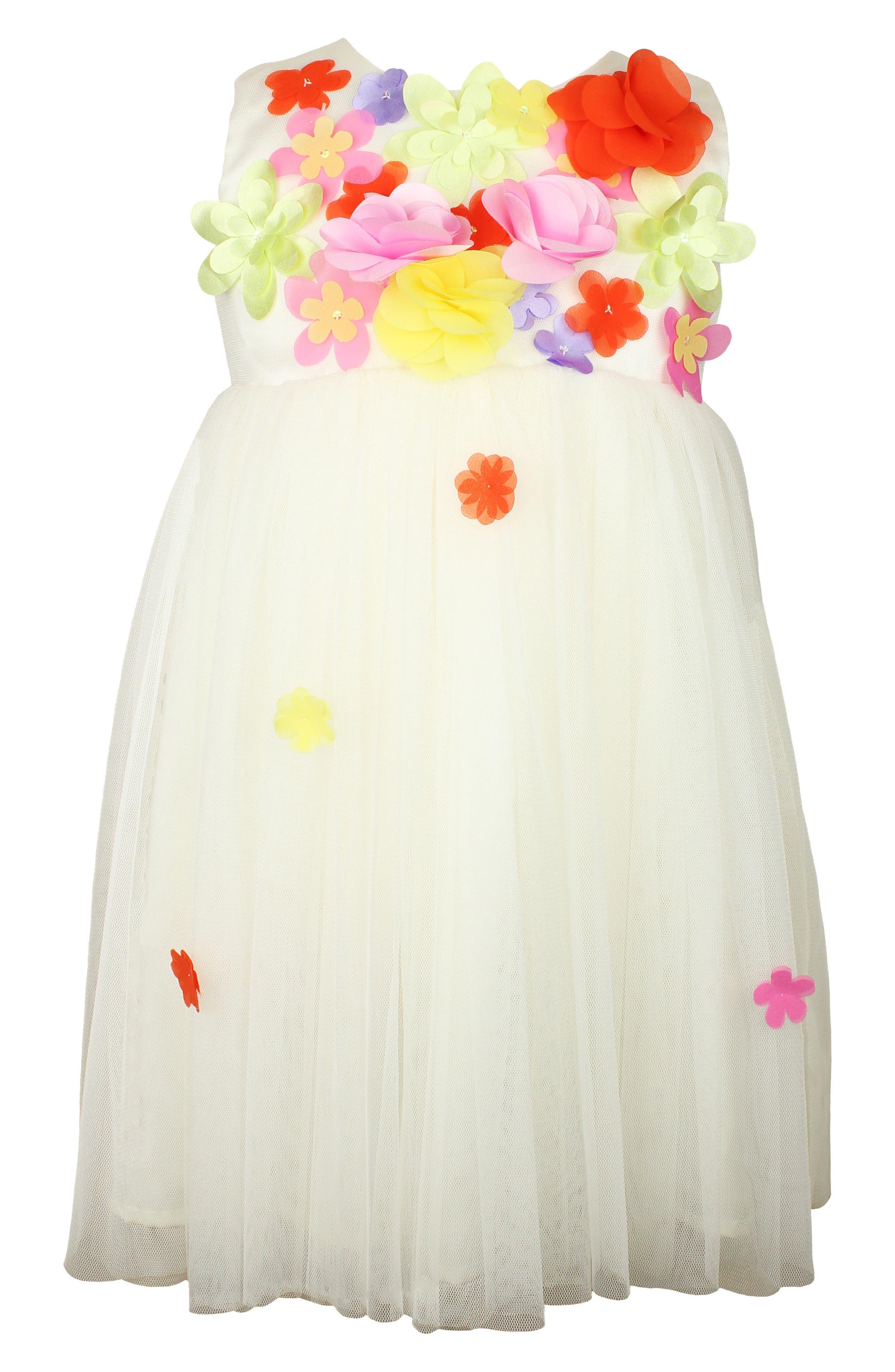 Alternate Image 1 Selected - Popatu Floral Sleeveless Dress (Baby Girls)