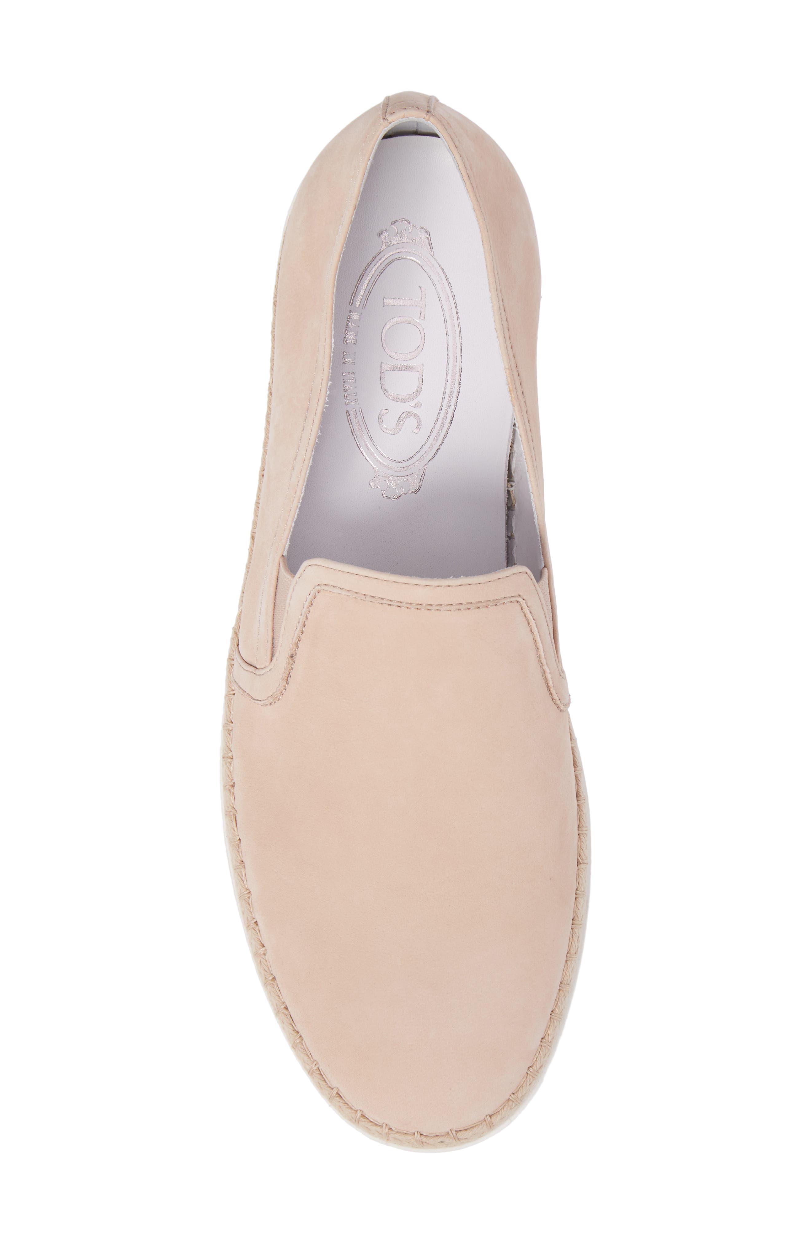 Espadrille Slip-On Sneaker,                             Alternate thumbnail 5, color,                             Ballerina Pink