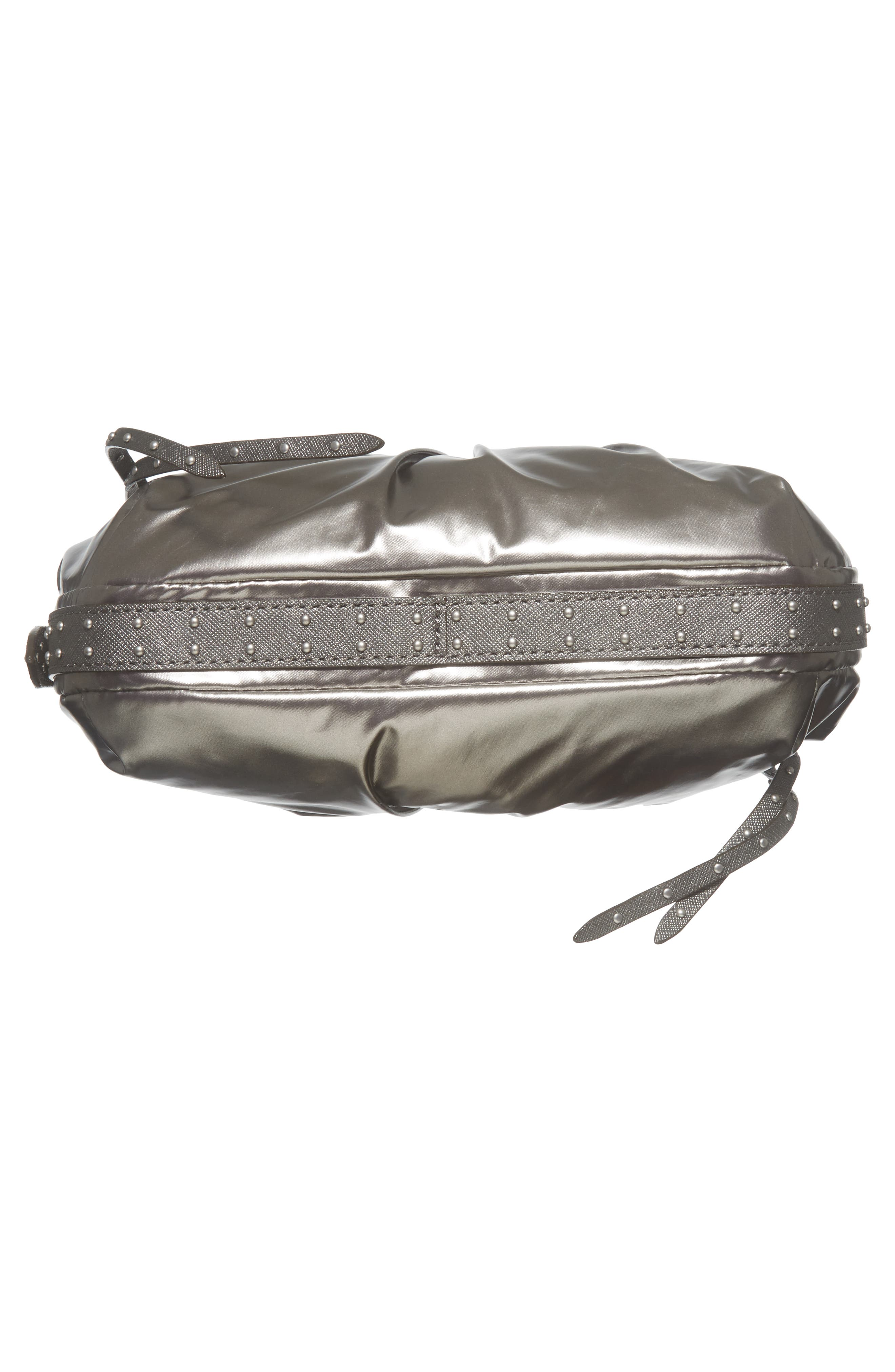 Harlow Crossbody Bag,                             Alternate thumbnail 6, color,                             Pewter Leather Cococha