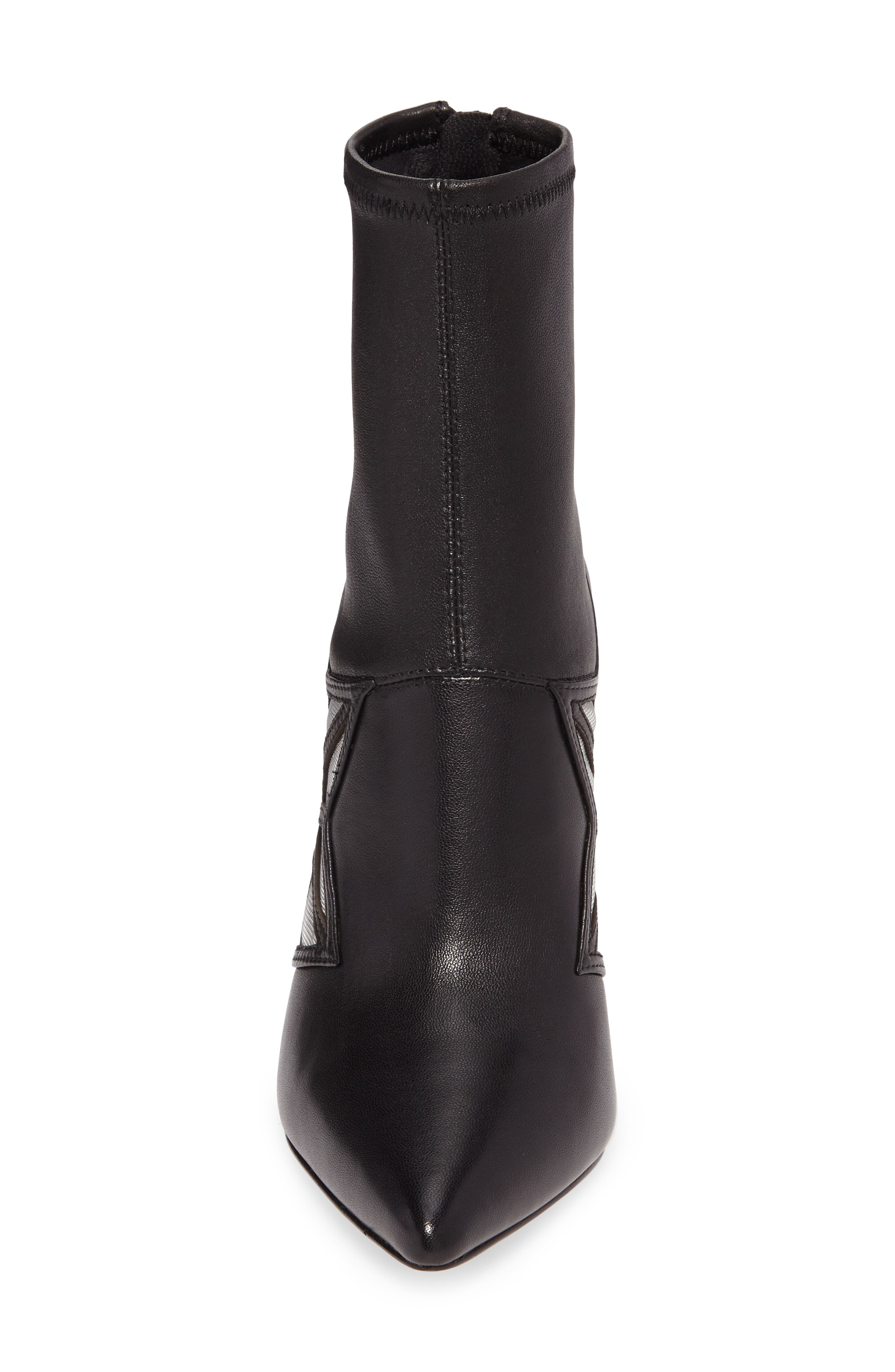 Ceara Bootie,                             Alternate thumbnail 4, color,                             Black Leather