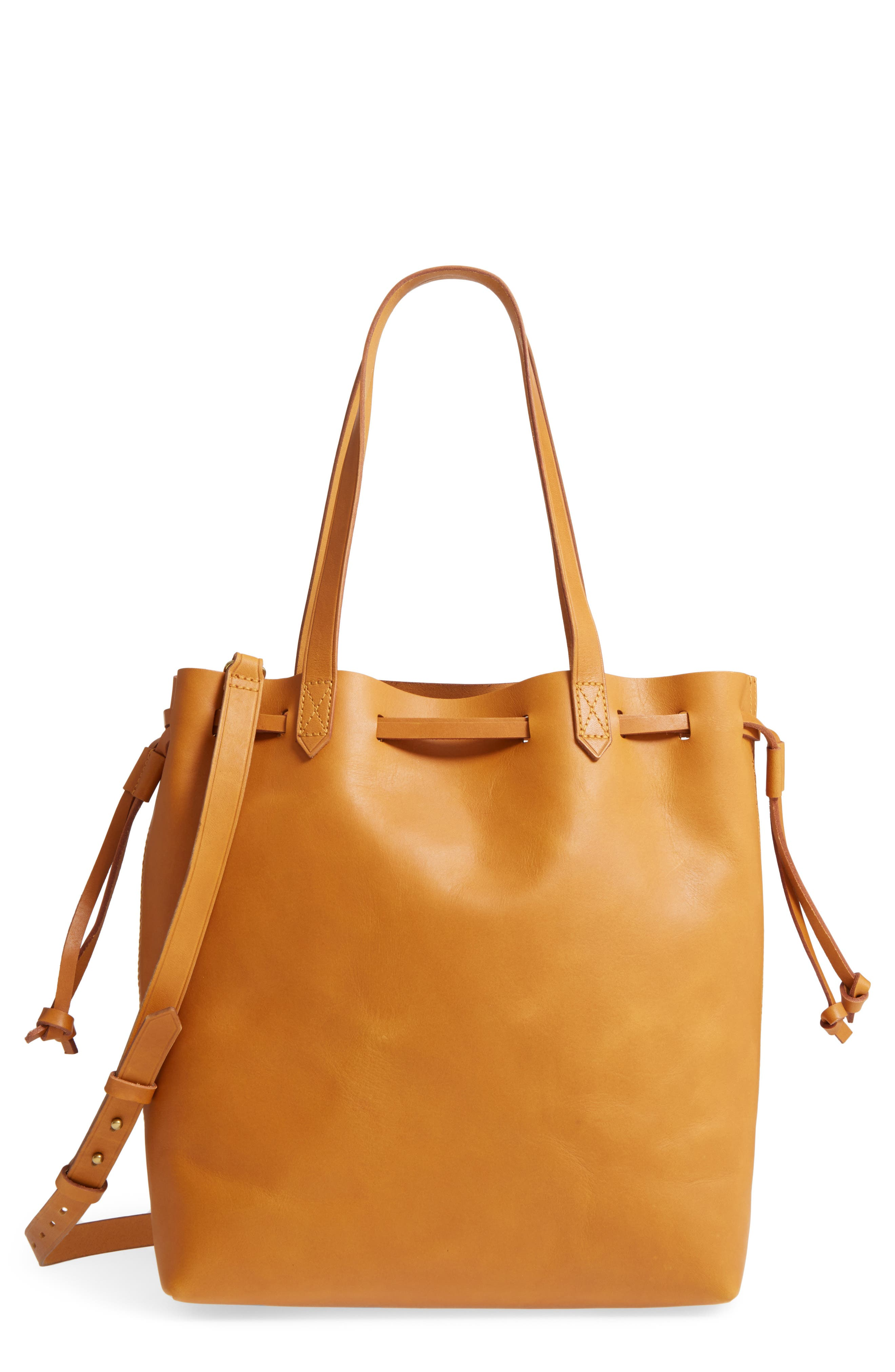 Alternate Image 1 Selected - Madewell Drawcord Transport Leather Tote