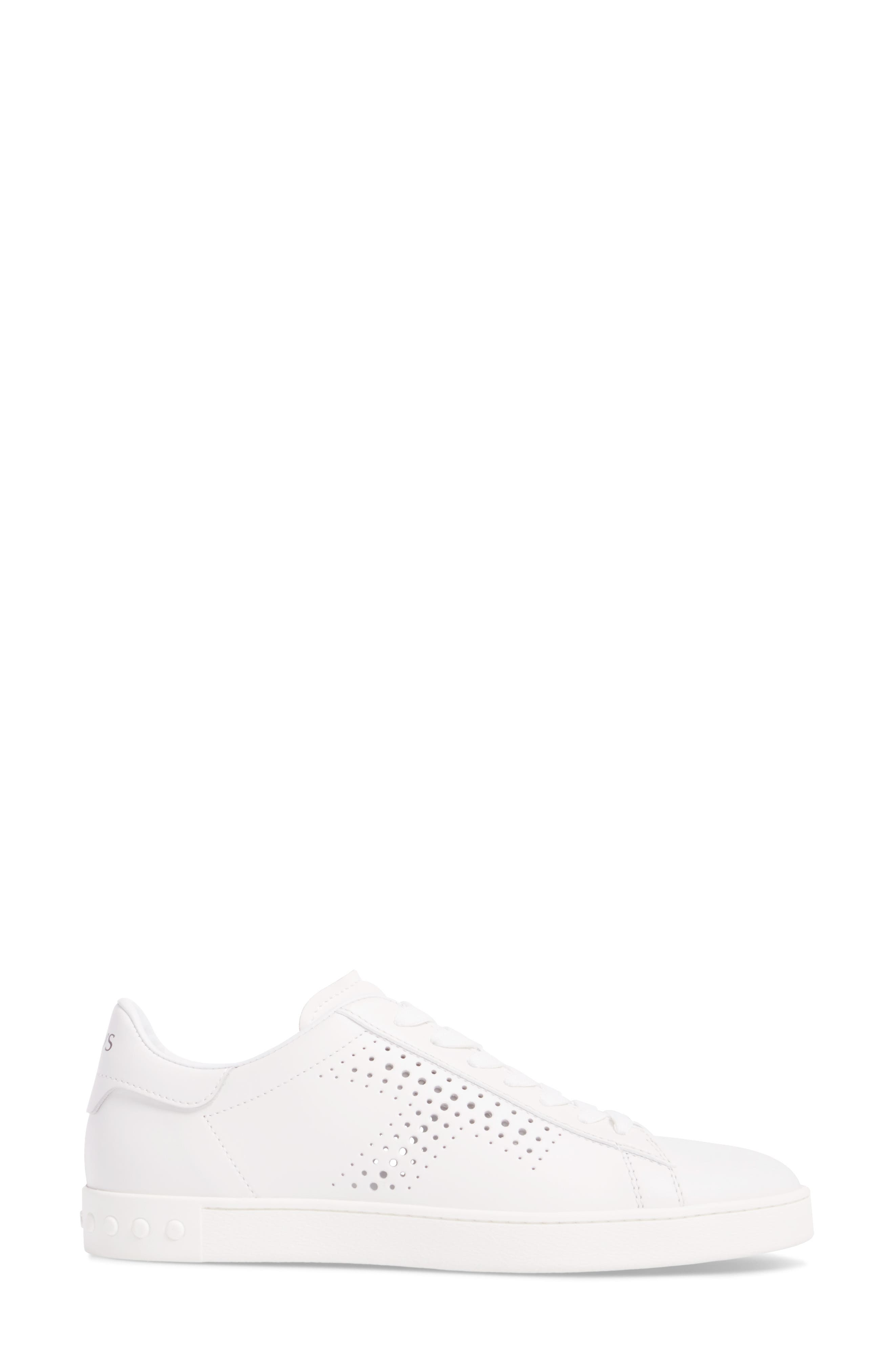 Perforated T Sneaker,                             Alternate thumbnail 3, color,                             White