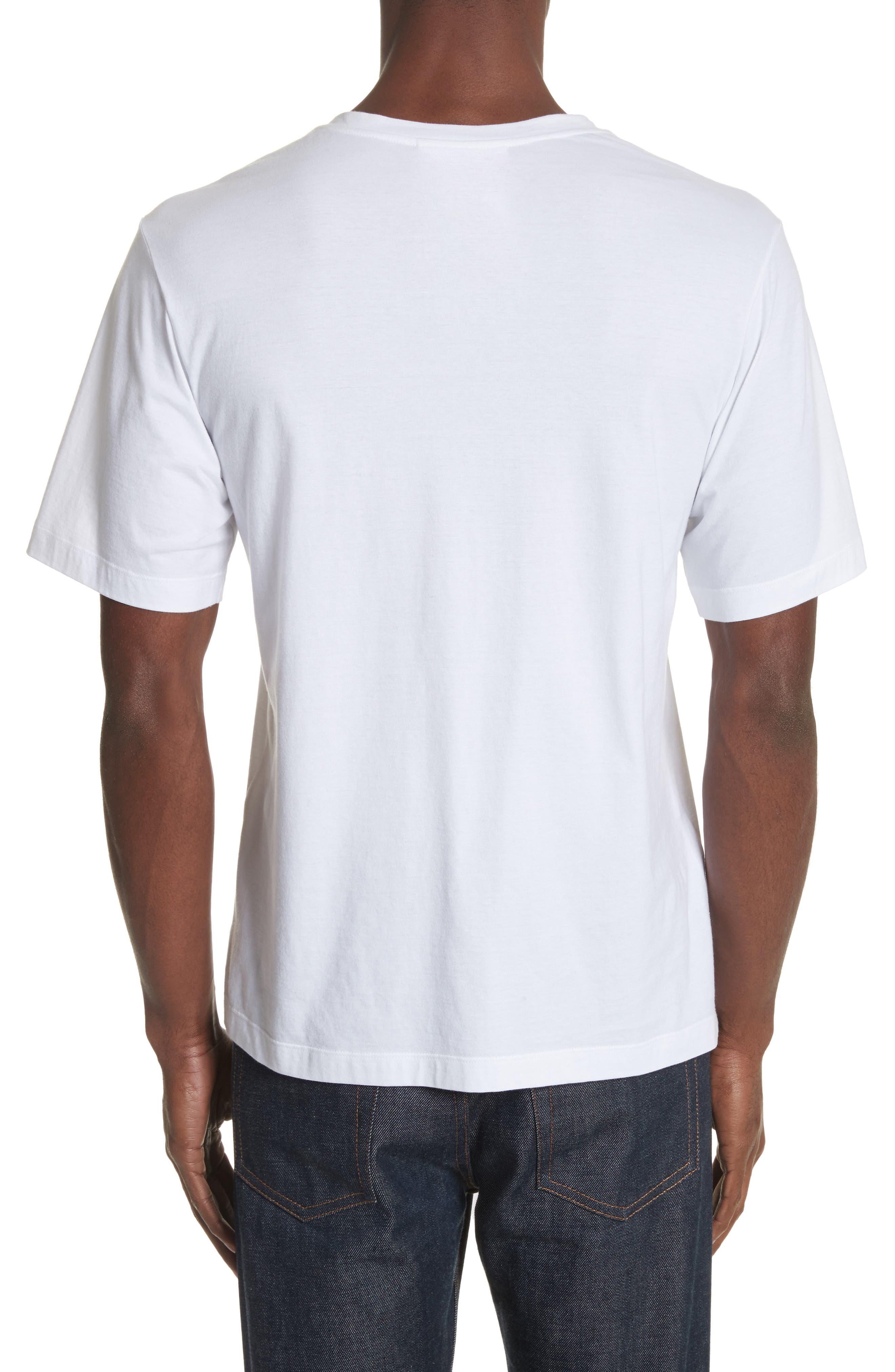 Cut Neck T-Shirt,                             Alternate thumbnail 2, color,                             White