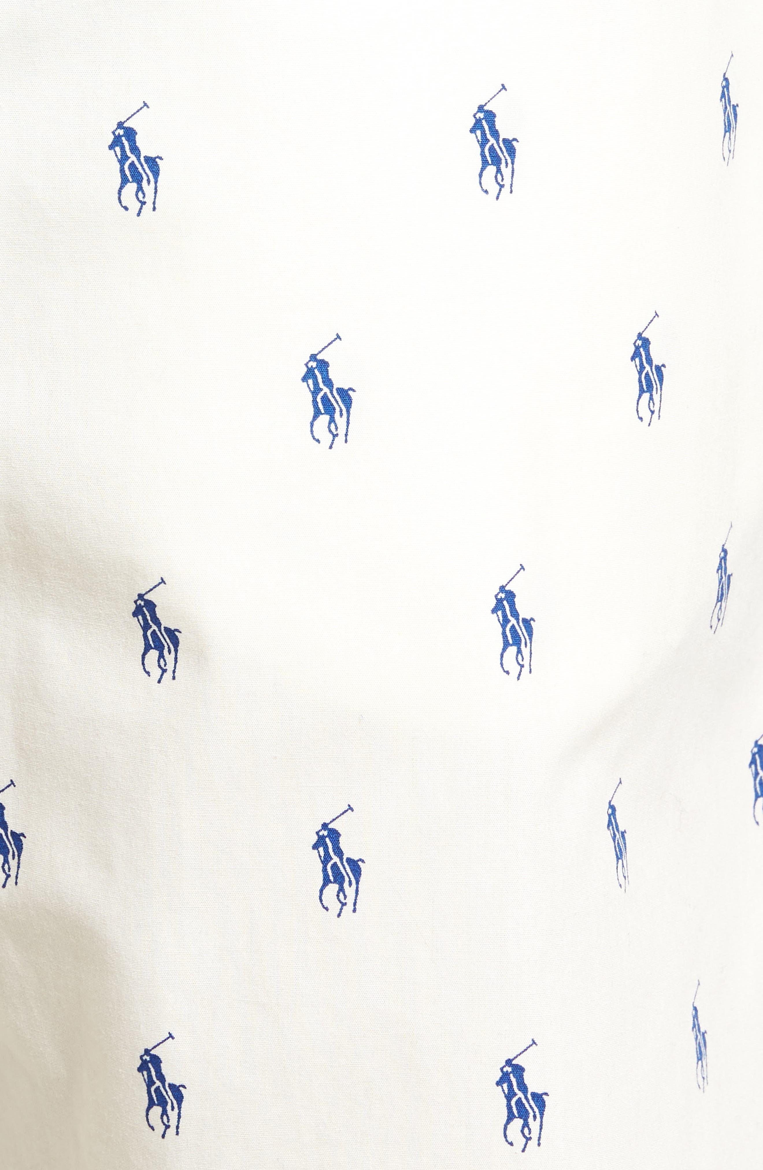 Alternate Image 5  - Ralph Lauren Woven Pajama Shorts